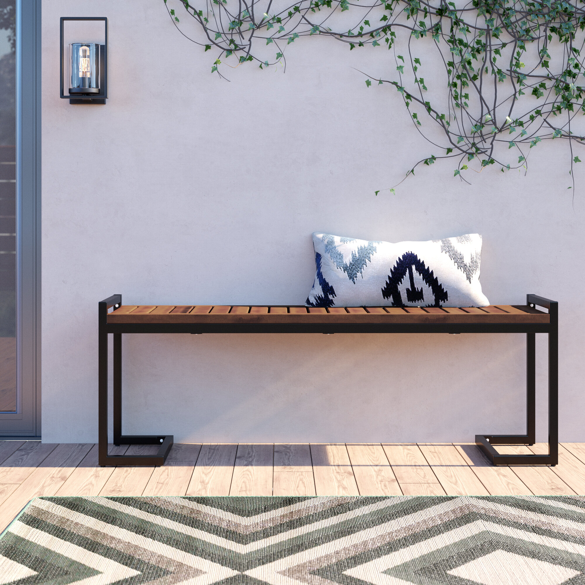 Metal Patio Benches You'Ll Love In 2020 | Wayfair Pertaining To Krystal Ergonomic Metal Garden Benches (View 13 of 25)