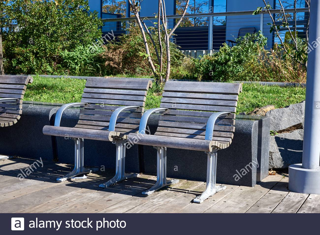 Metal Seats Seating High Resolution Stock Photography And Within Pauls Steel Garden Benches (View 11 of 25)