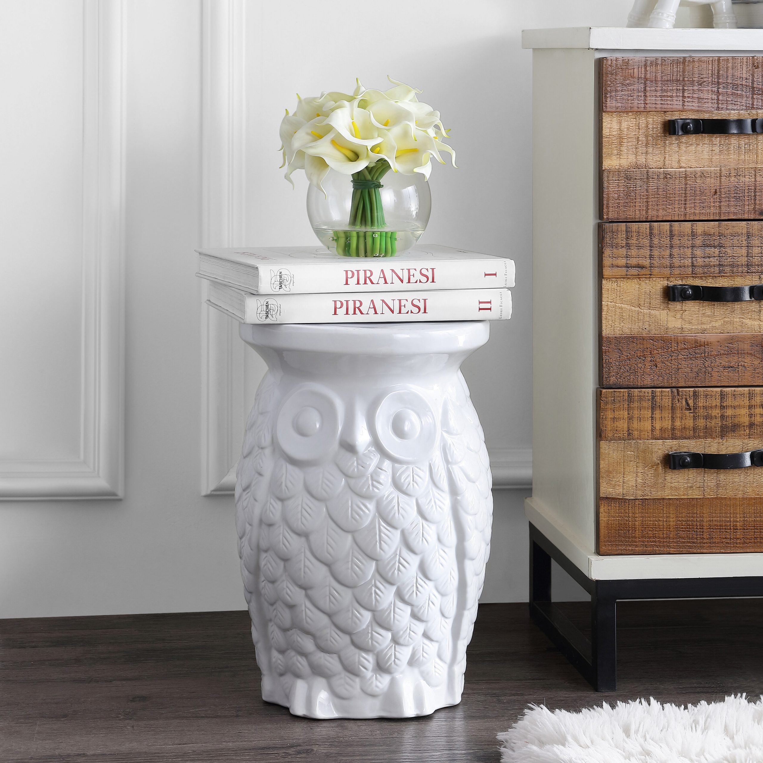 Featured Image of Middlet Owl Ceramic Garden Stools