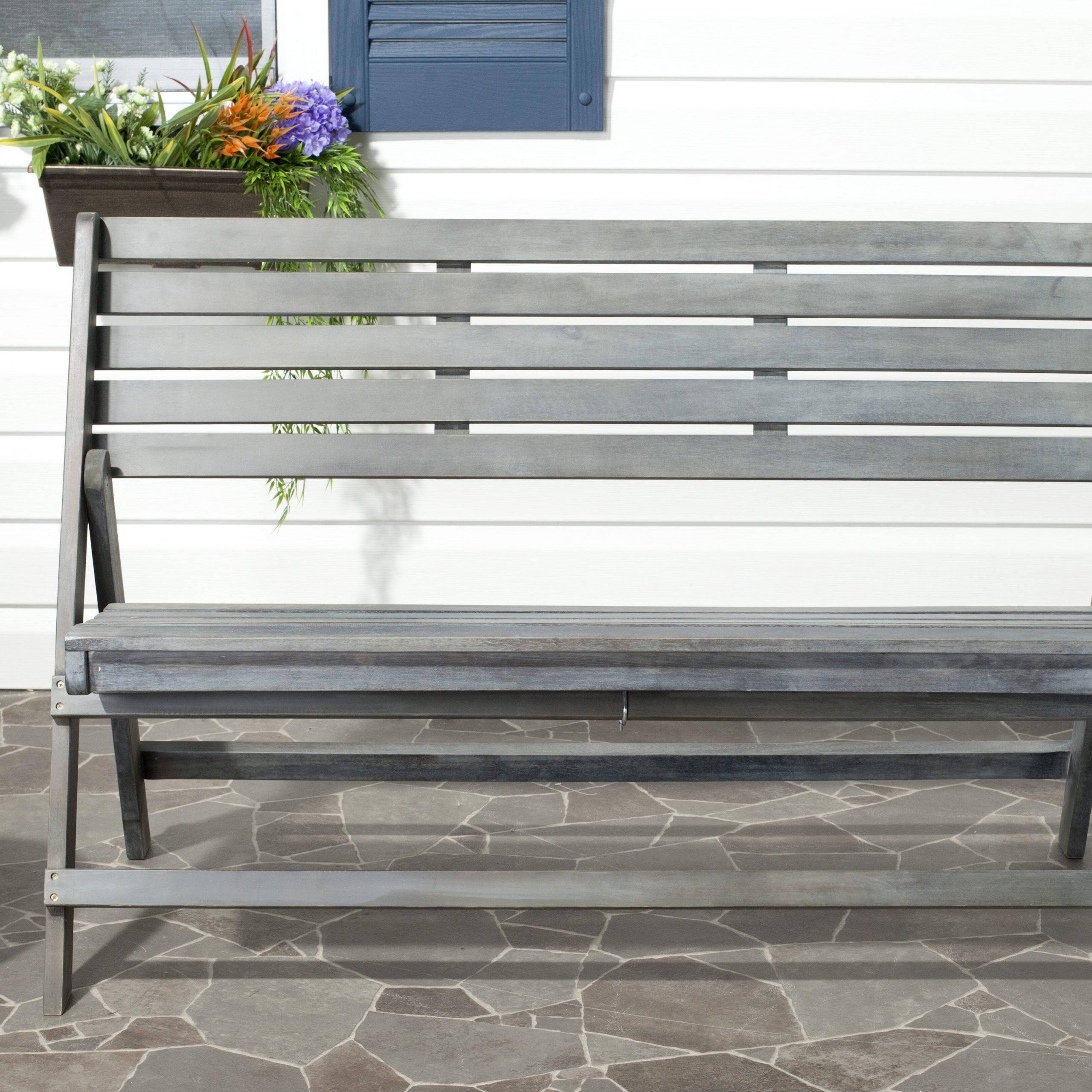 Mignardise Wooden Garden Bench Pertaining To Cavin Garden Benches (View 12 of 25)