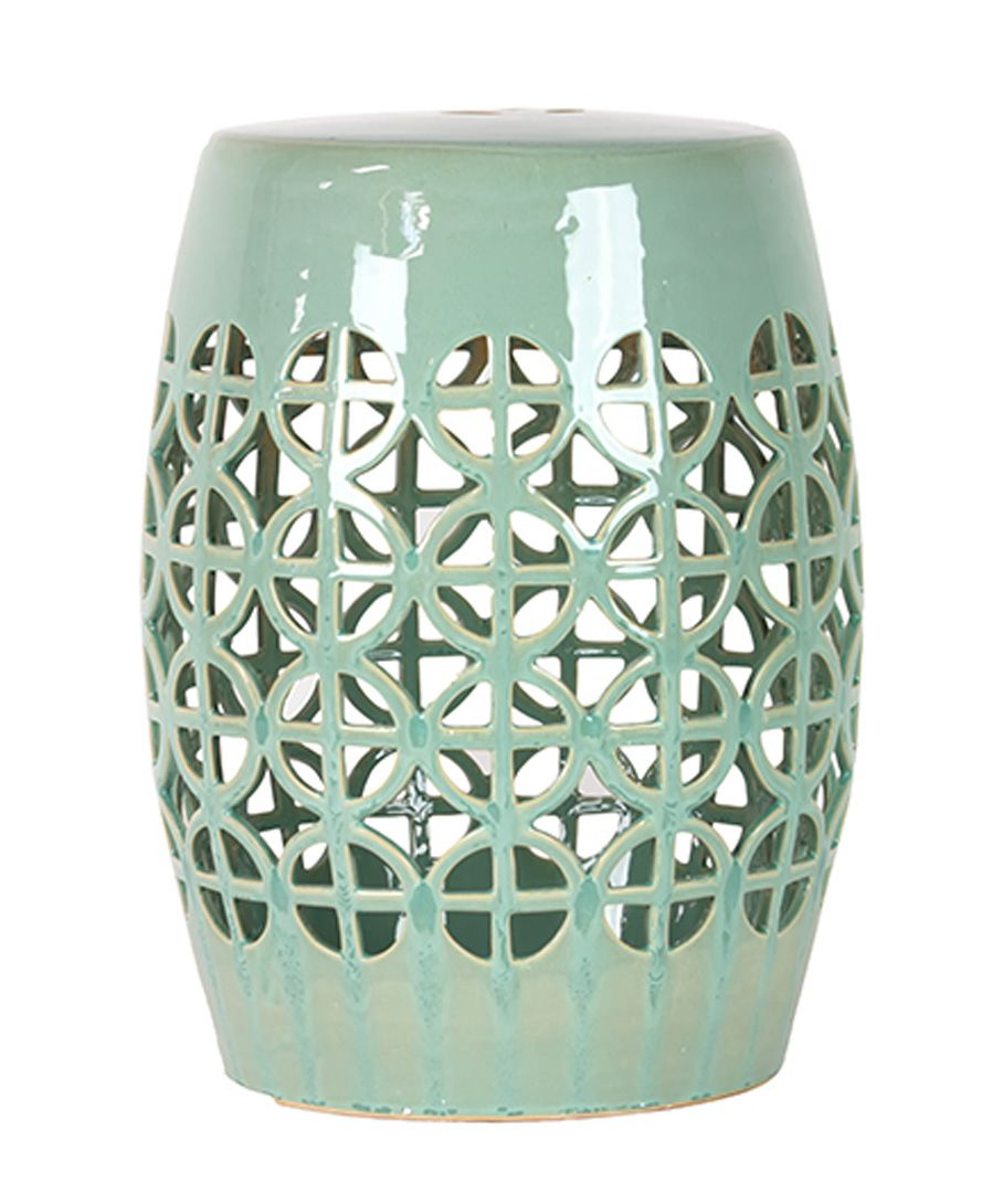 Mint Green Lattice Garden Stool | Ceramic Garden Stools In Keswick Ceramic Garden Stools (View 16 of 25)