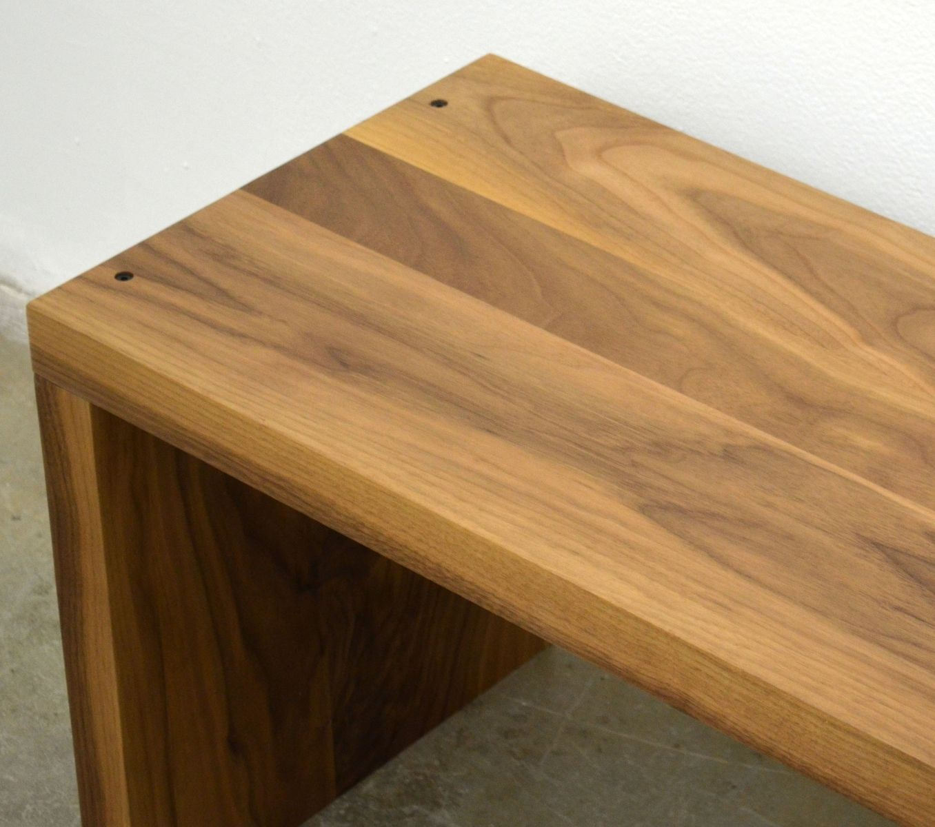 Modern Solid Walnut Wood Bench With Walnut Solid Wood Garden Benches (View 22 of 25)