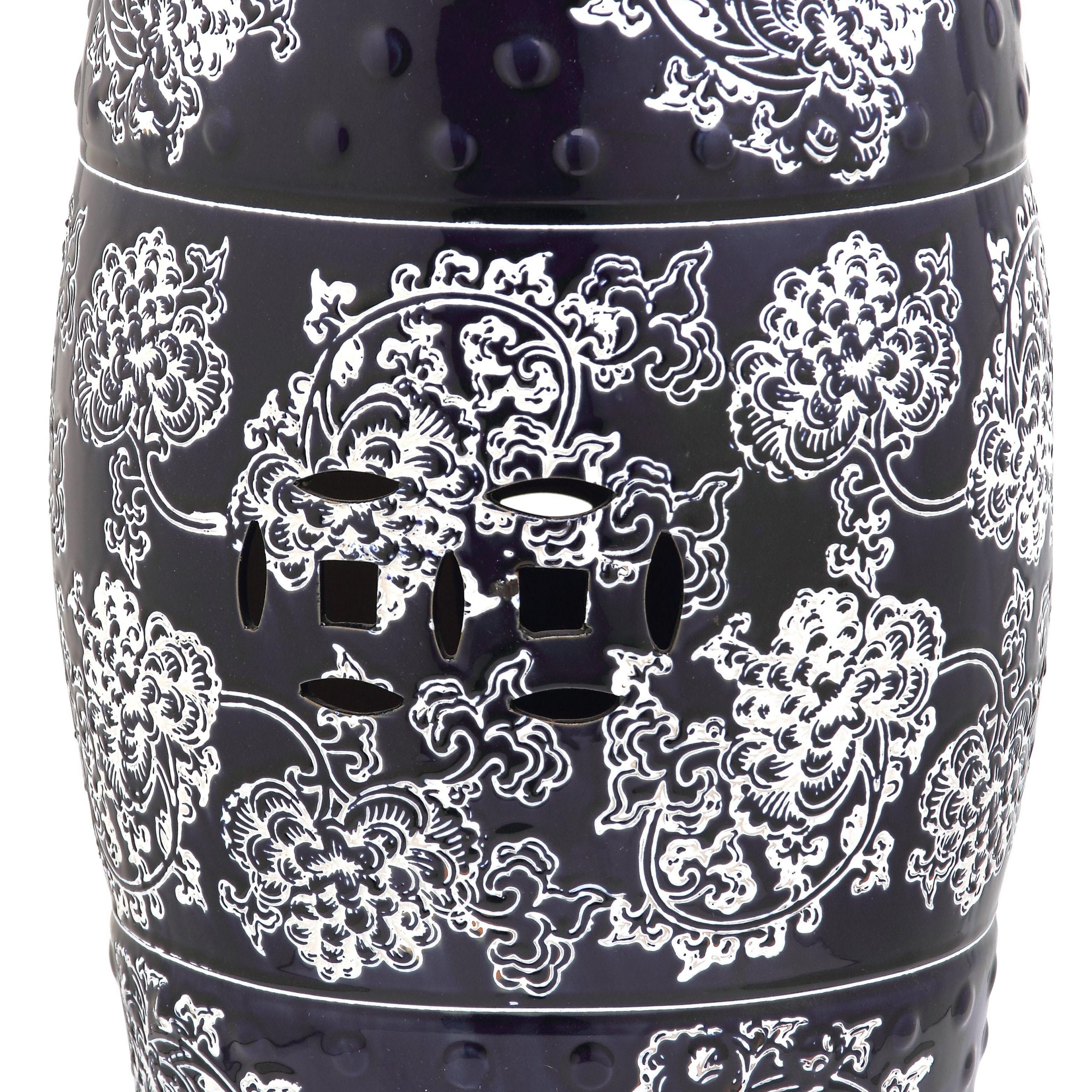 Morgan Ceramic Garden Stool Throughout Karlov Ceramic Garden Stools (View 20 of 25)