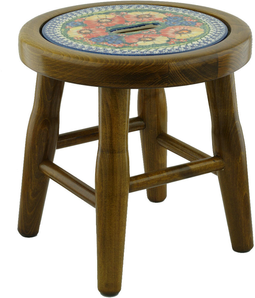 Mystical Garden Polish Pottery Accent Stool Inside Bracey Garden Stools (View 16 of 25)