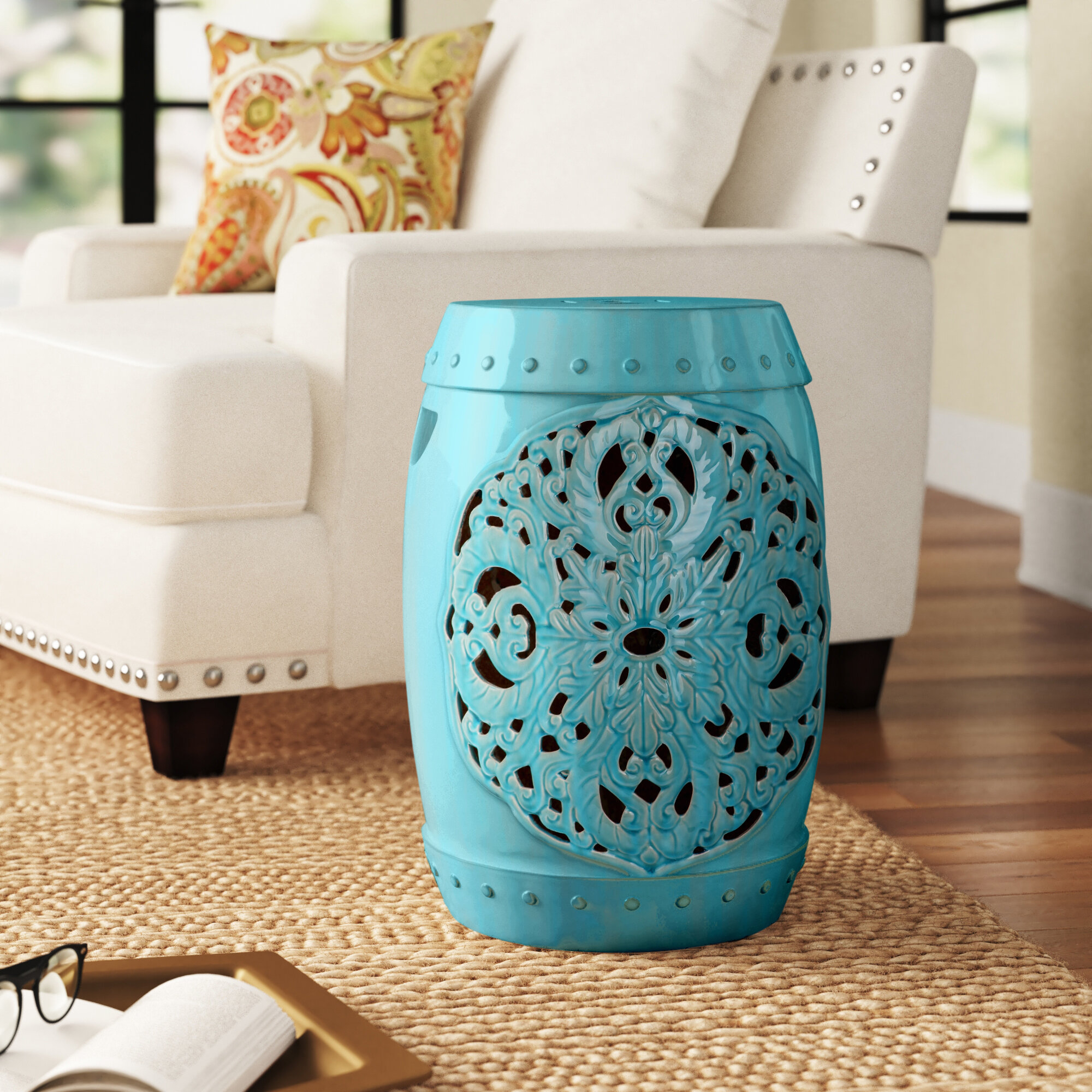Nagle Ceramic Garden Stool For Winterview Garden Stools (View 15 of 25)