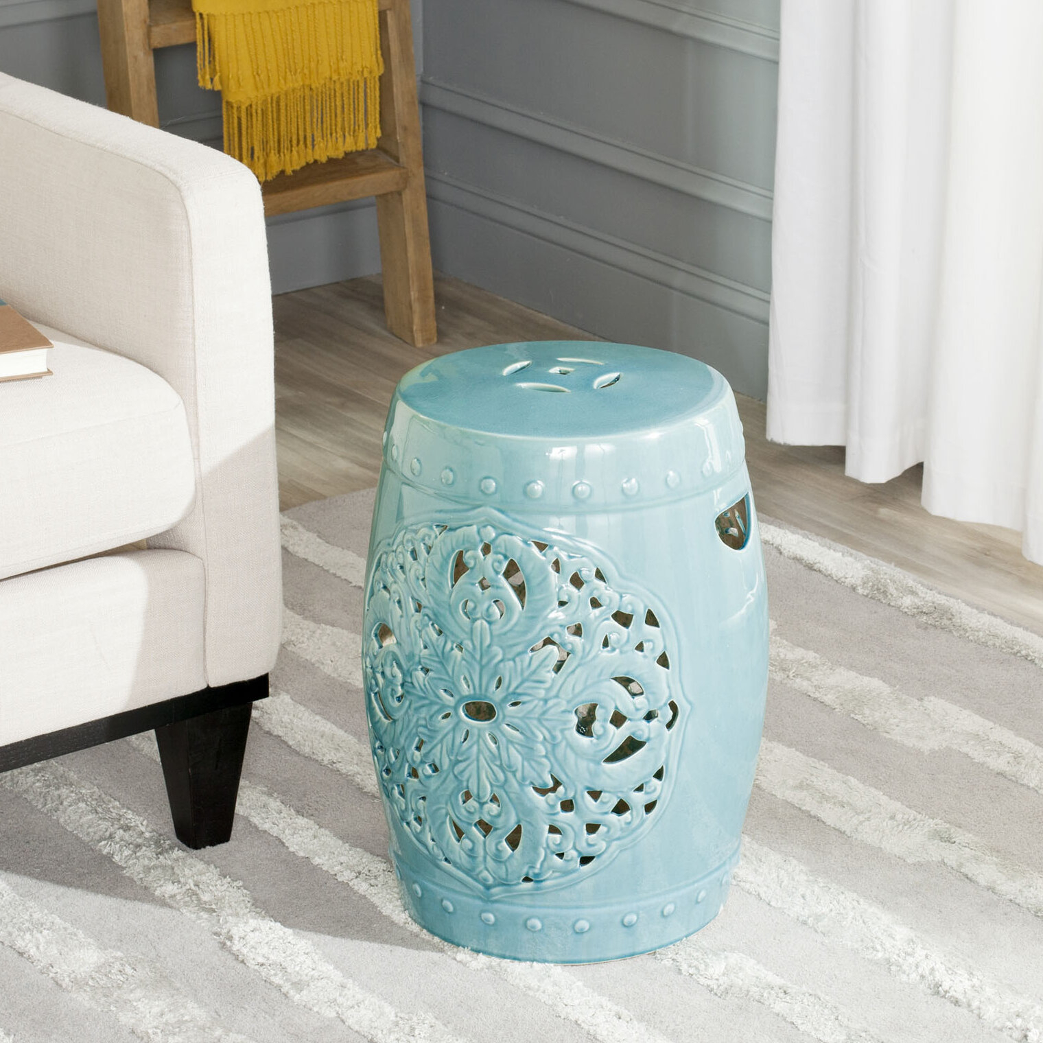 Nagle Ceramic Garden Stool With Regard To Holbrook Ceramic Garden Stools (View 8 of 25)