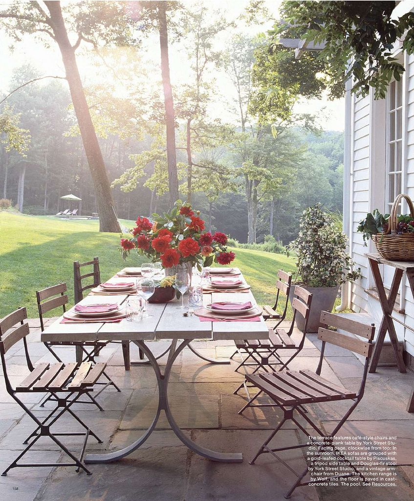 Nice Patio Table And Chairs | Outdoor Dining Room, Patio Within Weir Garden Stools (Photo 20 of 25)