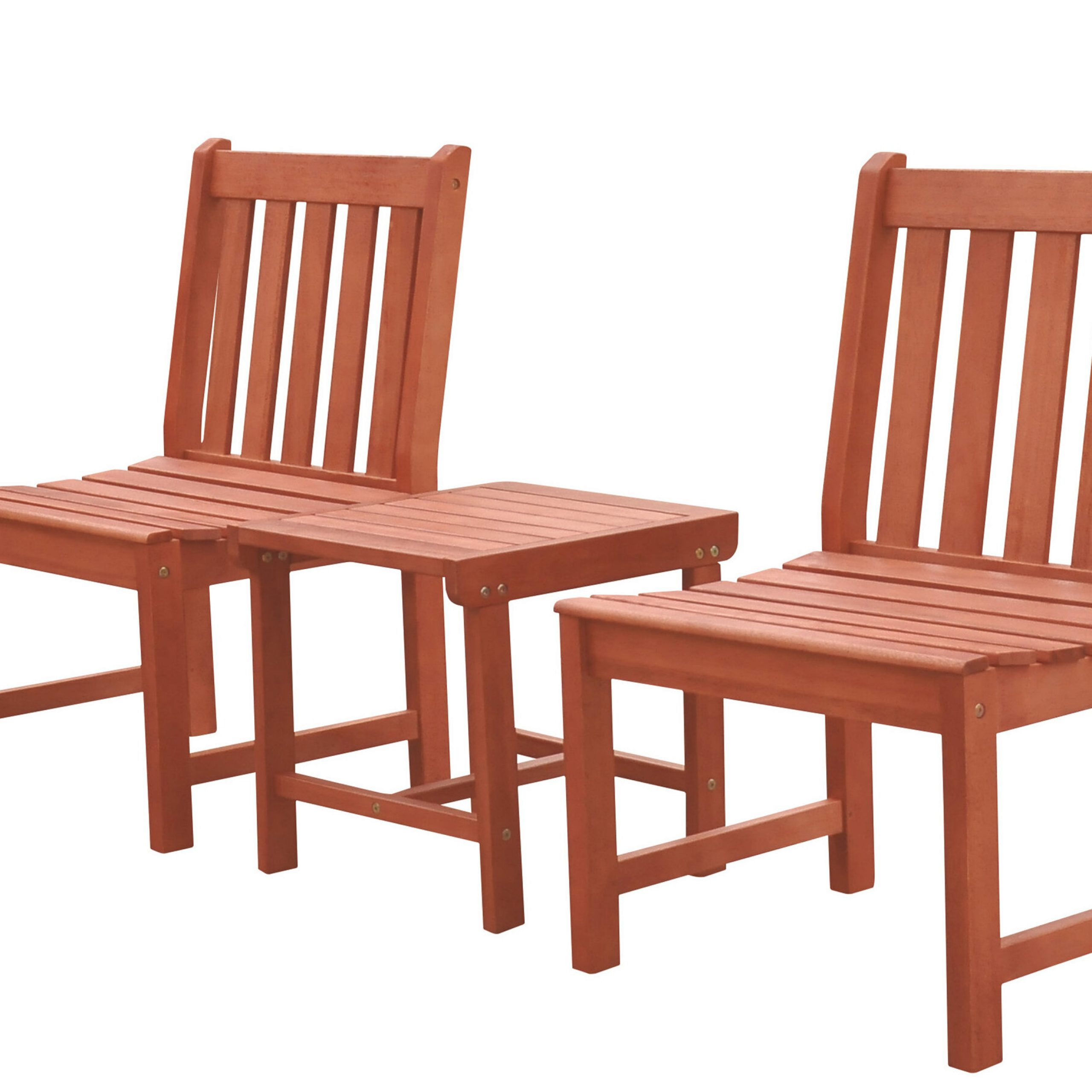 Nick 3 Piece Bistro Set Intended For Amabel Patio Diamond Wooden Garden Benches (View 23 of 25)