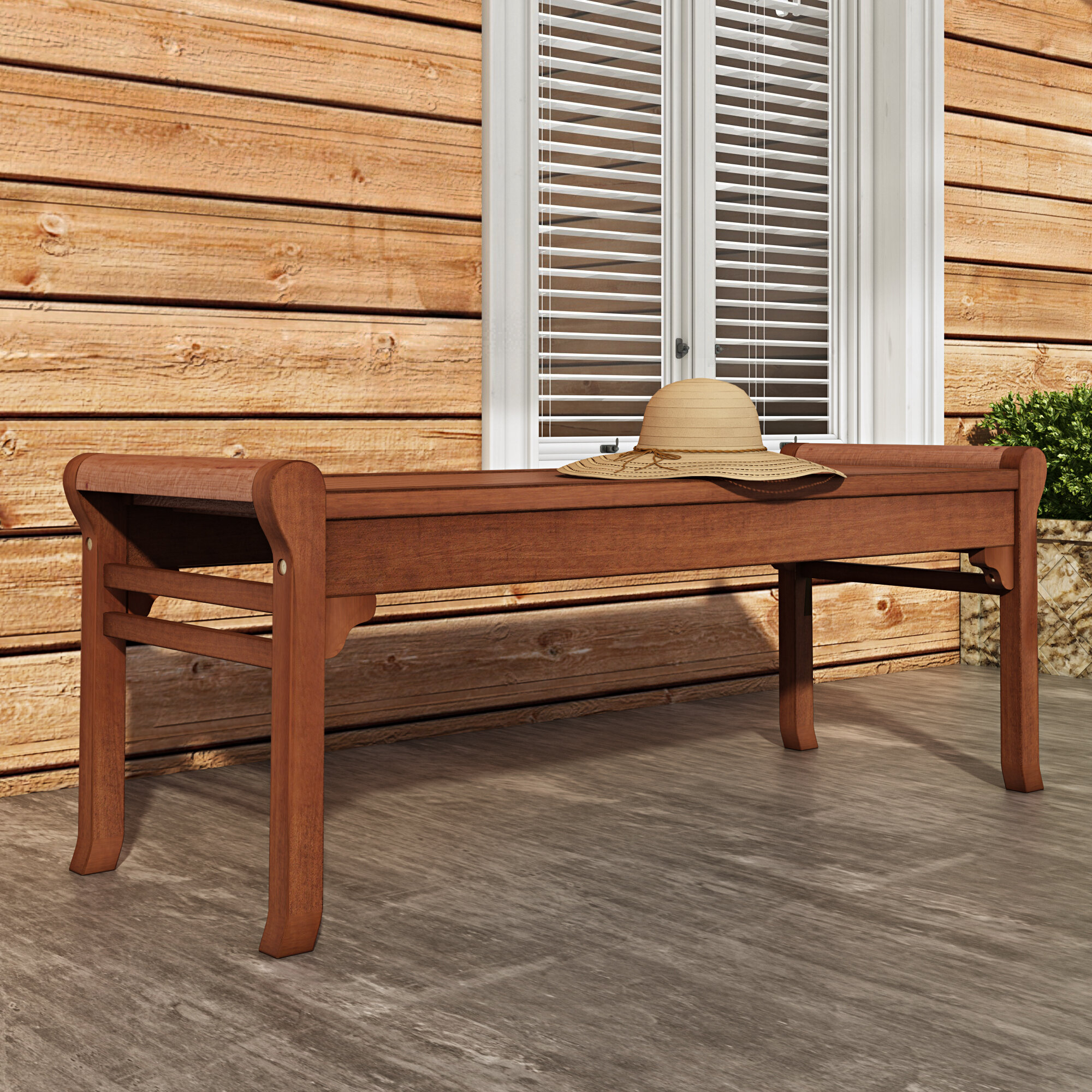 Nick Wooden Picnic Bench For Amabel Patio Diamond Wooden Garden Benches (View 15 of 25)