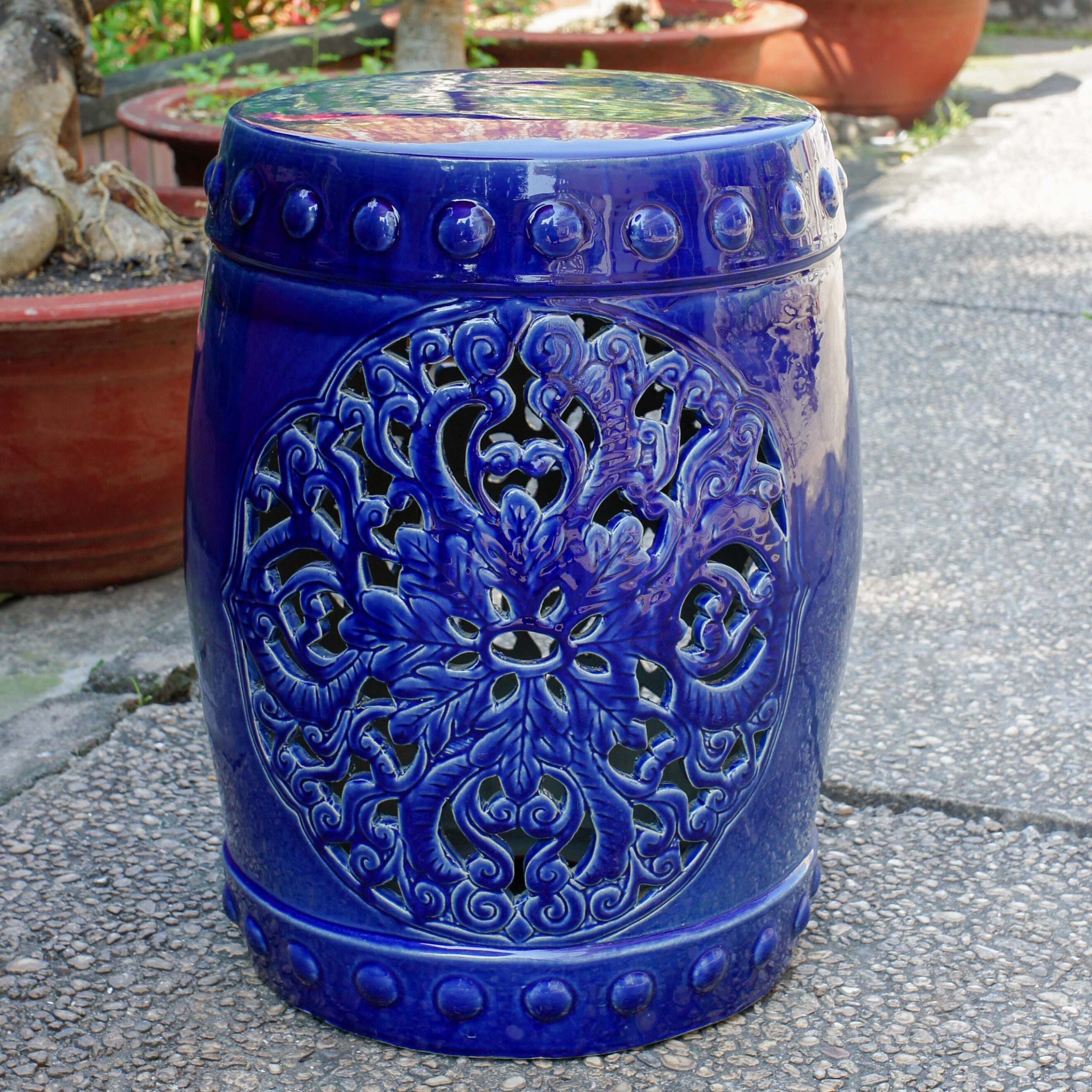 Nieto Ceramic Garden Stool Within Oakside Ceramic Garden Stools (View 2 of 25)