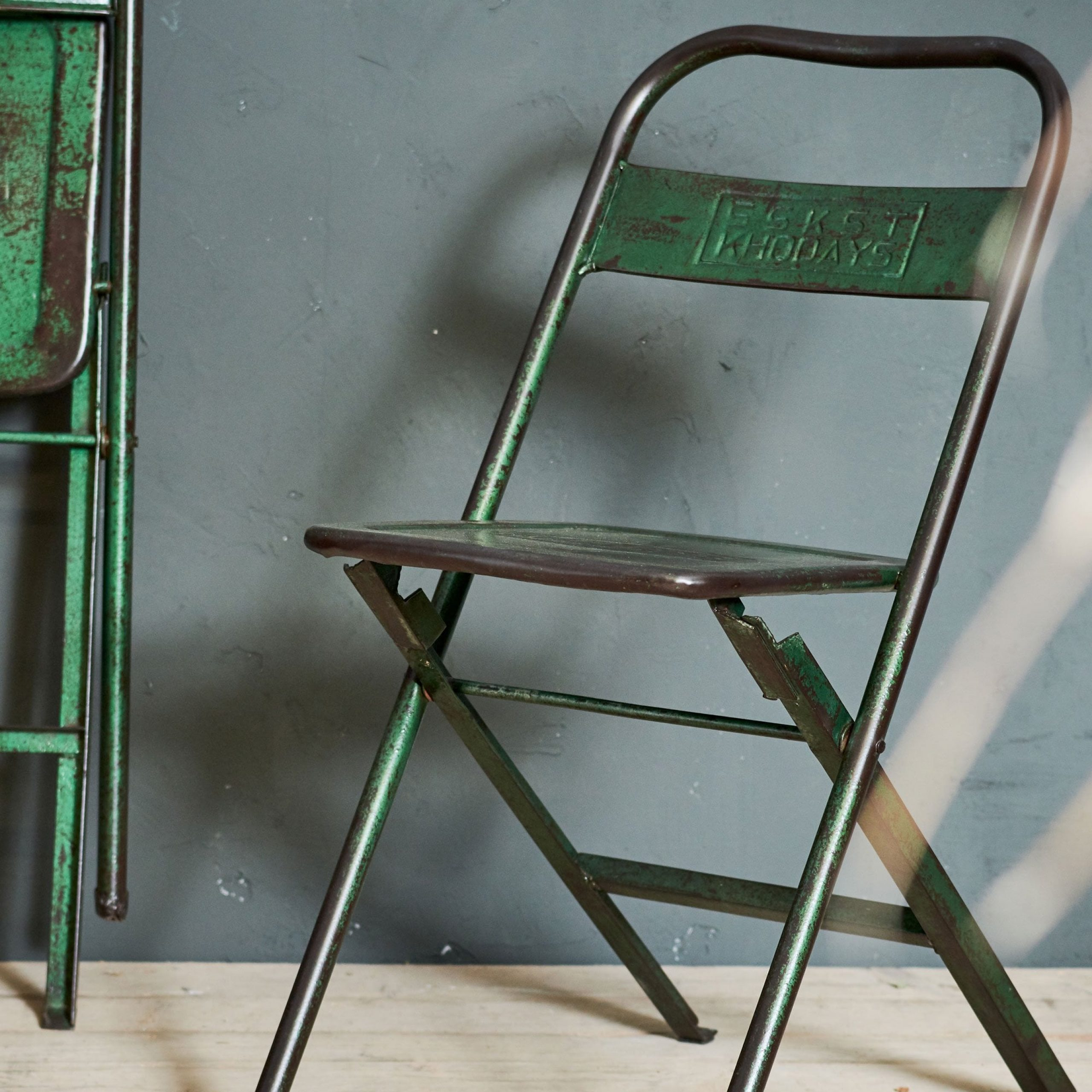 Nkuku Ishan Reclaimed Folding Chair With Ishan Steel Park Benches (View 21 of 25)