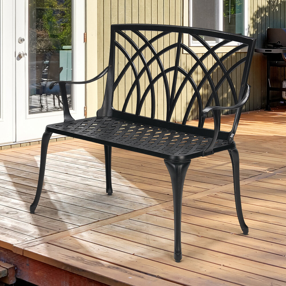 Featured Image of Norrie Metal Garden Benches