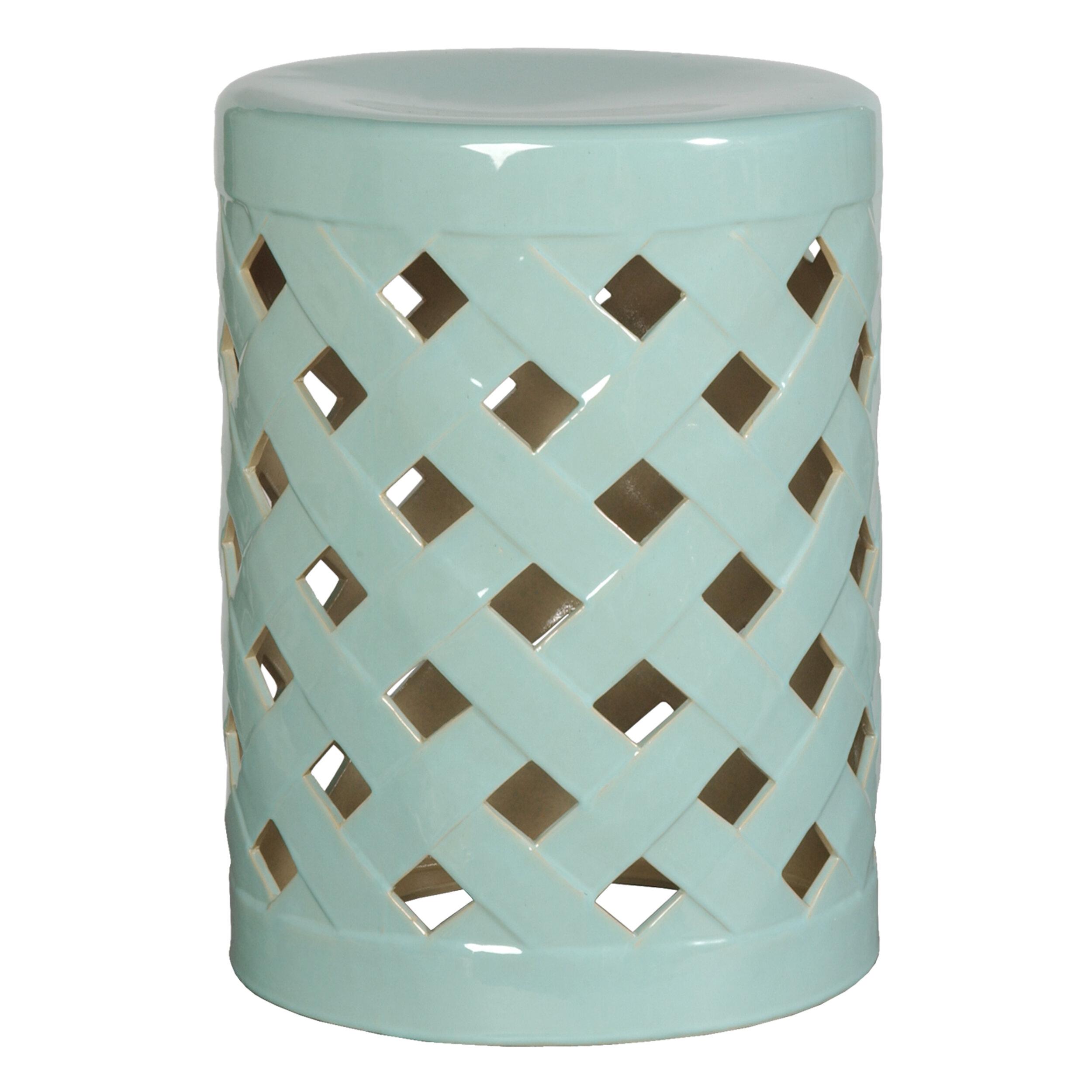 Ormside Ceramic Garden Stool Regarding Tillia Ceramic Garden Stools (View 4 of 25)