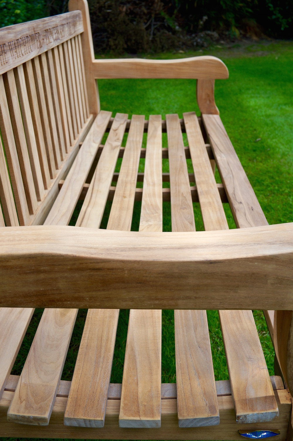 Our Park Land Personalised Wooden Benches In Manchester Solid Wood Garden Benches (View 21 of 25)