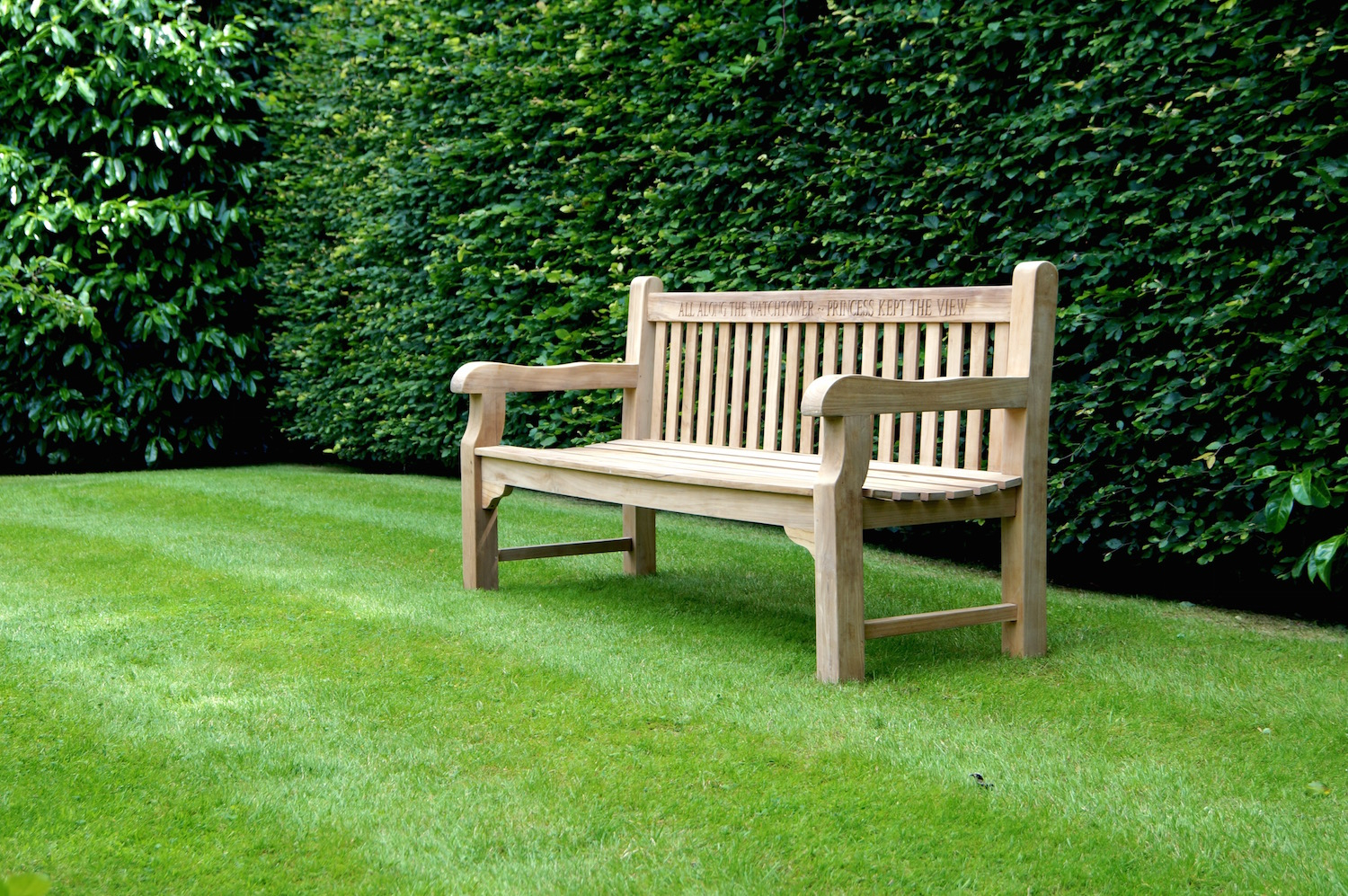 Our Park Land Personalised Wooden Benches With Manchester Solid Wood Garden Benches (View 11 of 25)