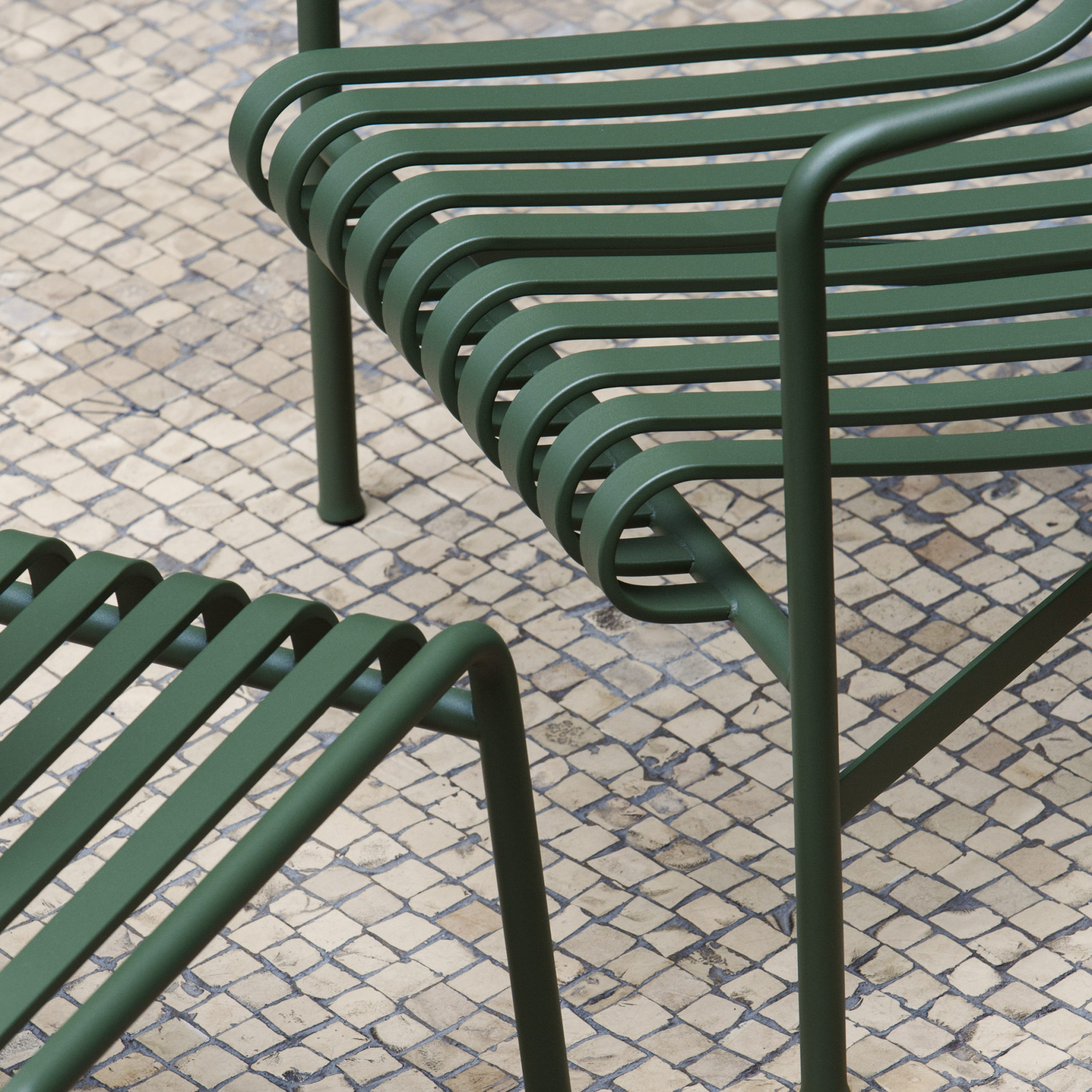 Outdoor Furniture: Metal Lawn Chairs Made Modern – Gardenista For Michelle Metal Garden Benches (View 11 of 25)