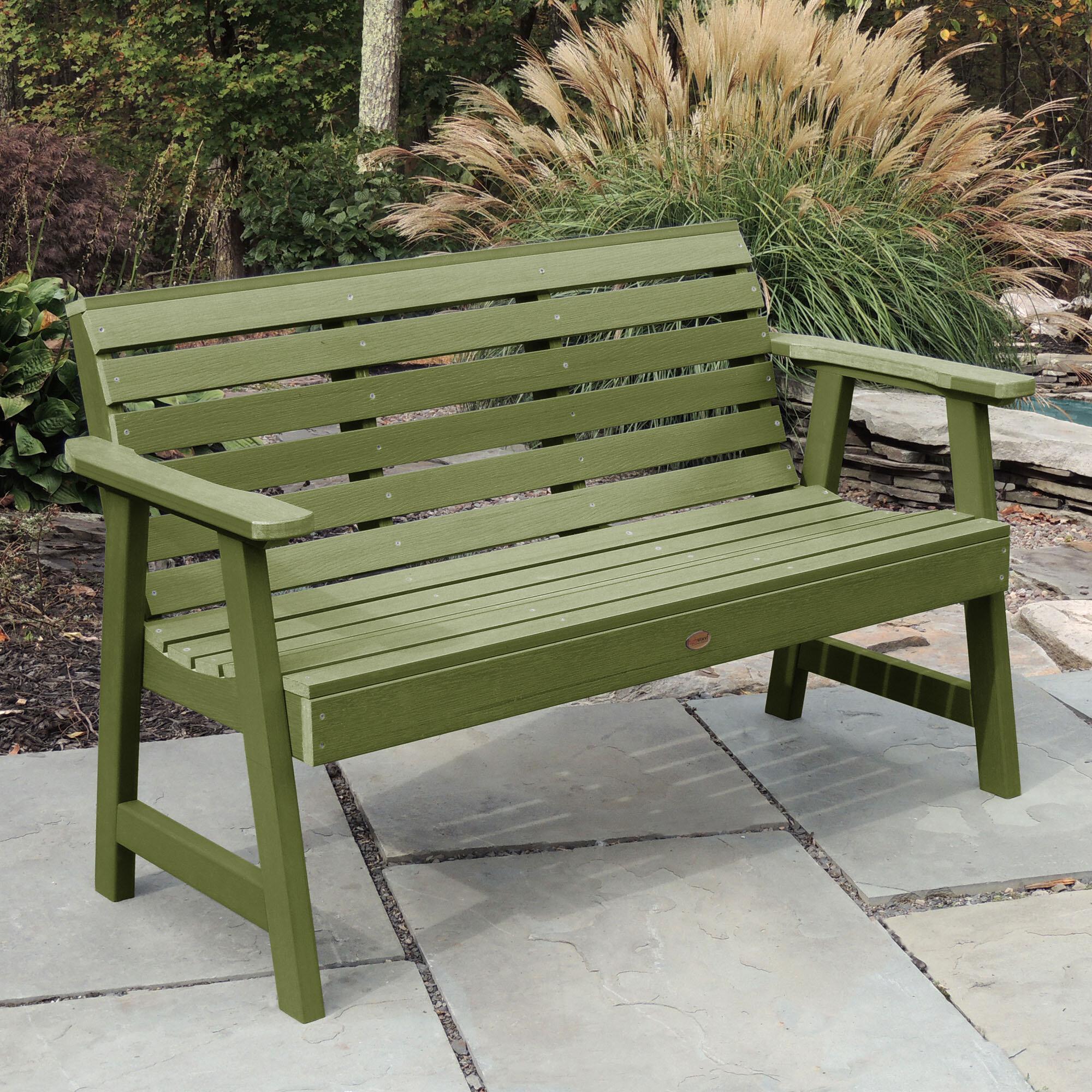 Outdoor Green Benches | Wayfair Within Cavin Garden Benches (View 20 of 25)