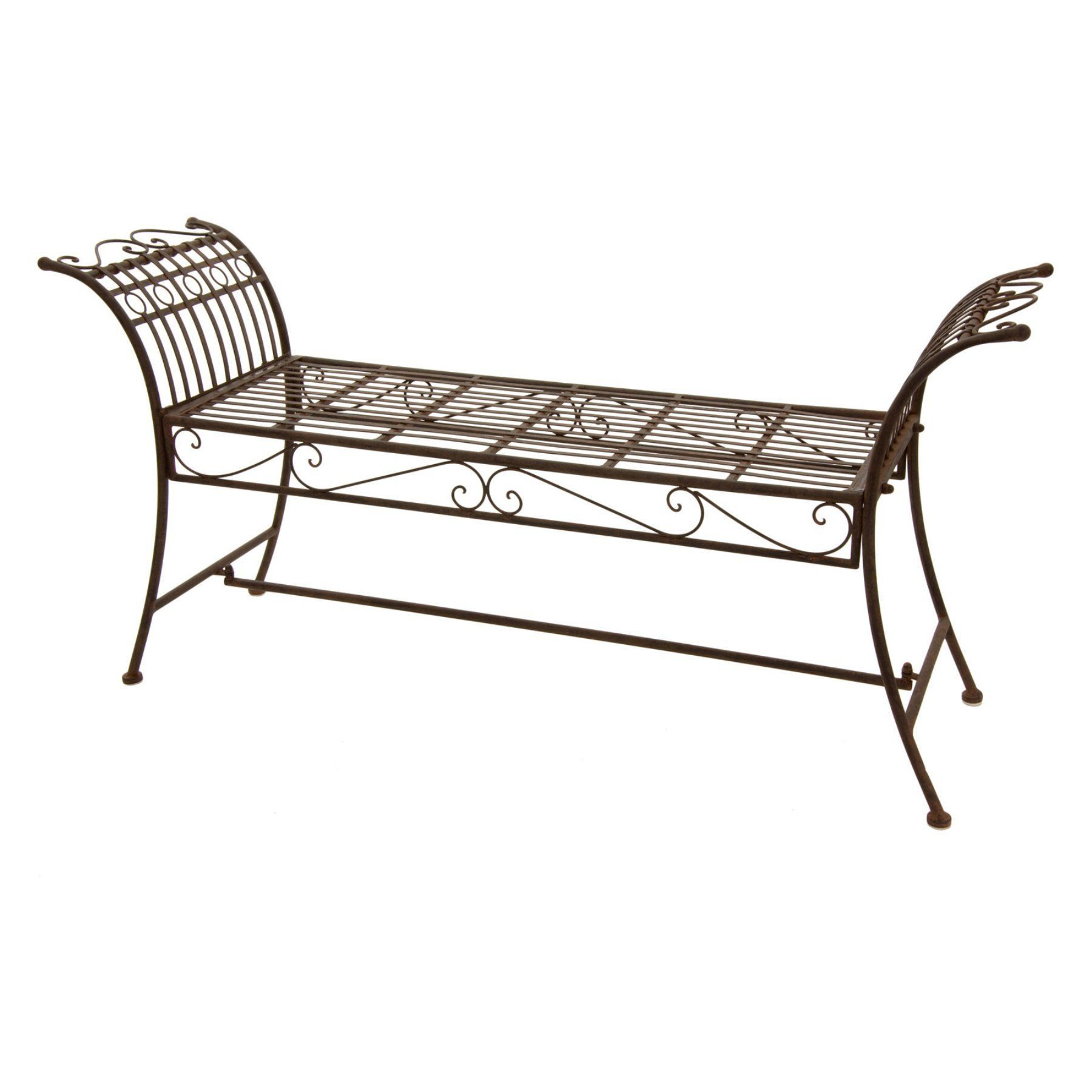 Outdoor Oriental Furniture Rustic Wing Decorative Backless Within Caryn Colored Butterflies Metal Garden Benches (View 13 of 25)