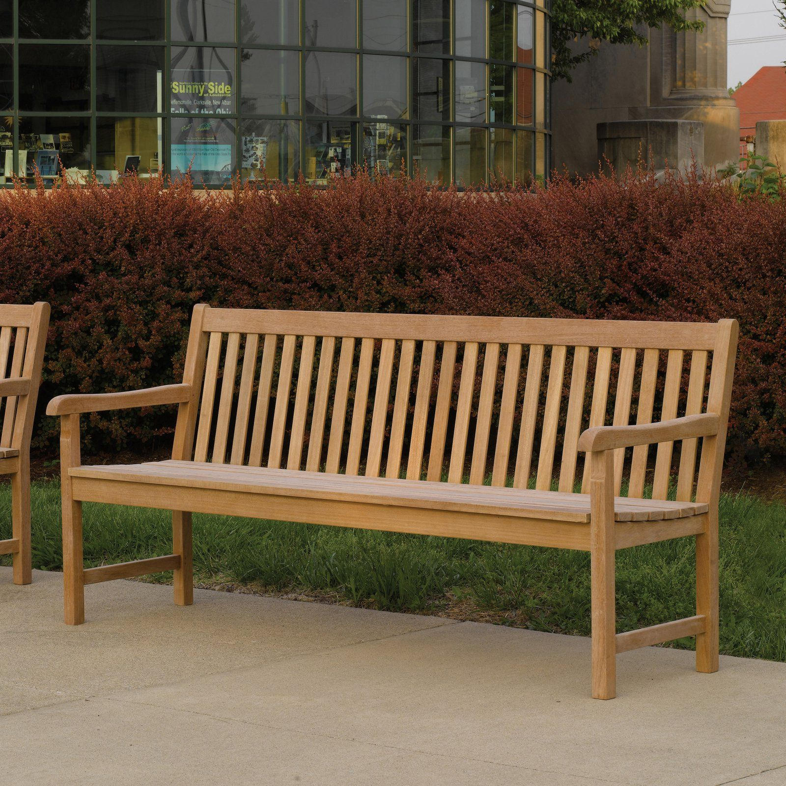 Outdoor Oxford Garden Classic Shorea Wood Garden Bench With Regard To Hampstead Teak Garden Benches (View 9 of 25)