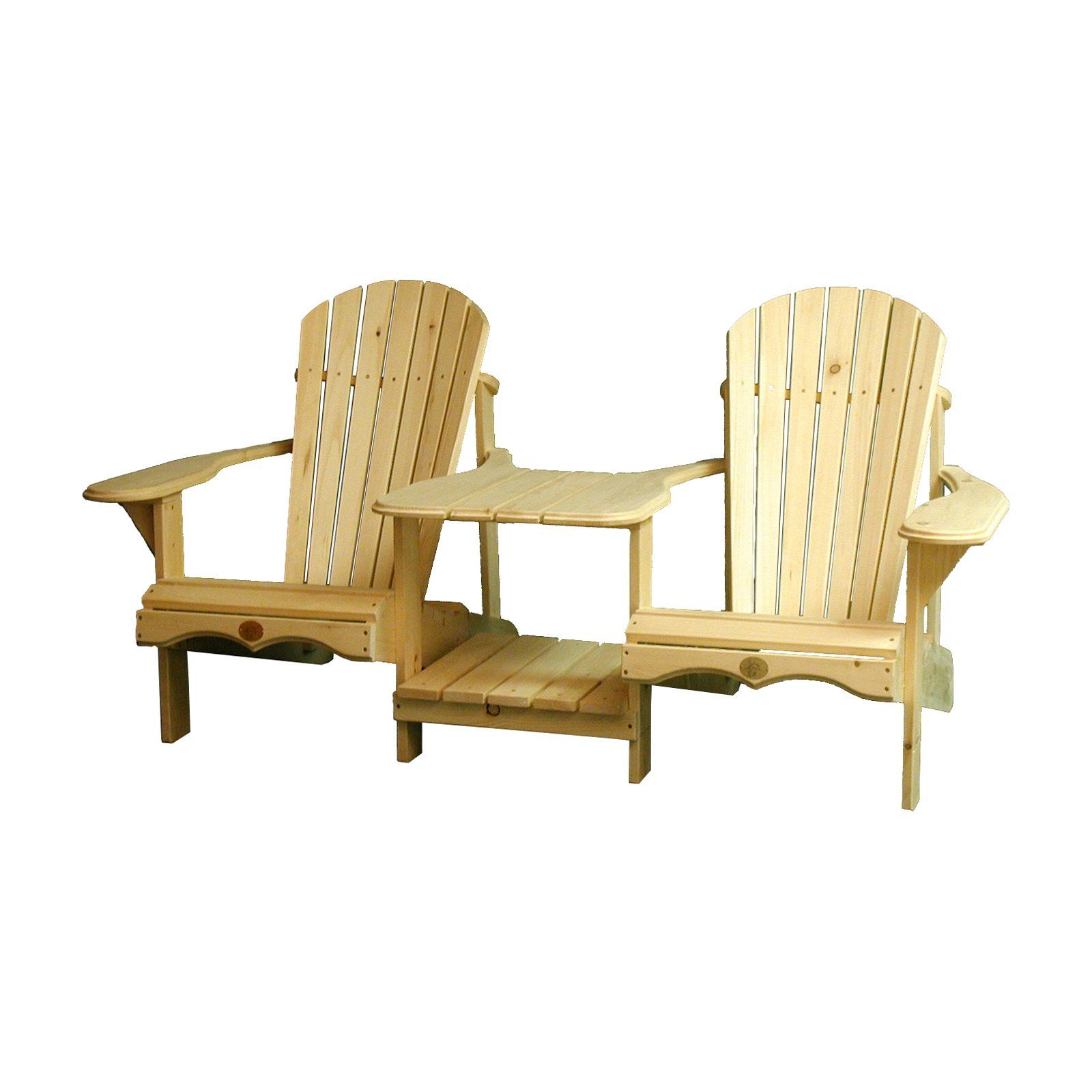 Outdoor The Bear Chair Wood Adirondack Tete A Tete Bench In For Wicker Tete A Tete Benches (View 17 of 25)