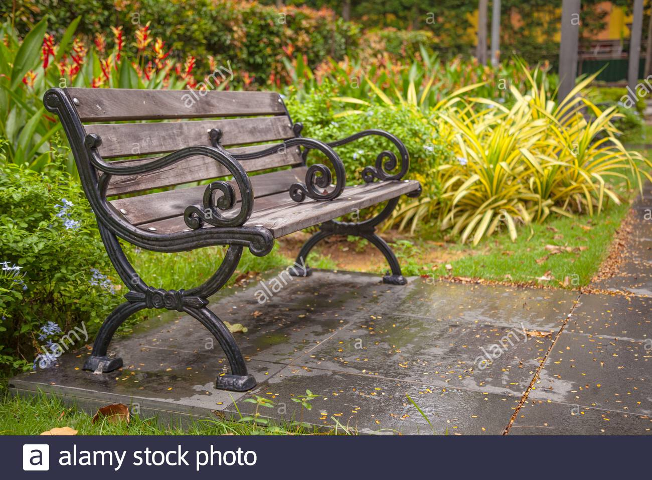Page 2 – Public Garden Bench High Resolution Stock In Strasburg Blossoming Decorative Iron Garden Benches (View 10 of 25)