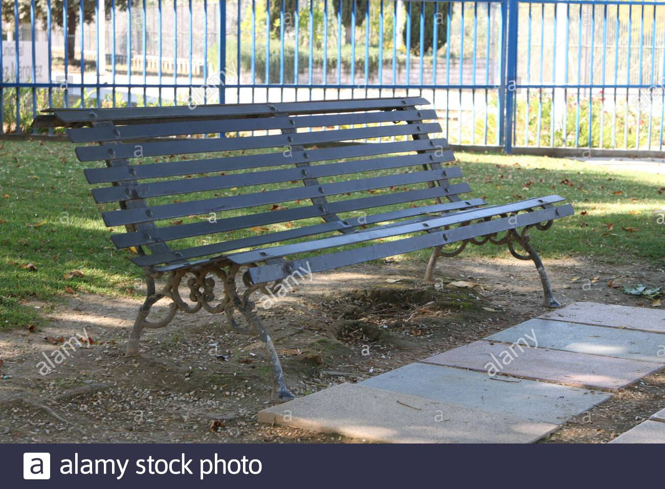 Page 3 – Shaded Bench High Resolution Stock Photography And Pertaining To Strasburg Blossoming Decorative Iron Garden Benches (View 20 of 25)