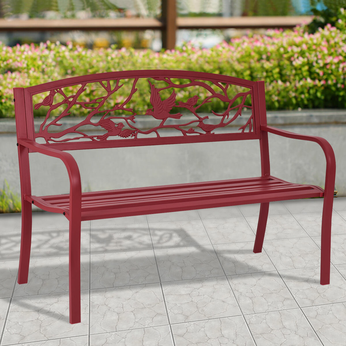 Parklawn Patio Steel Garden Bench Regarding Ishan Steel Park Benches (View 10 of 25)