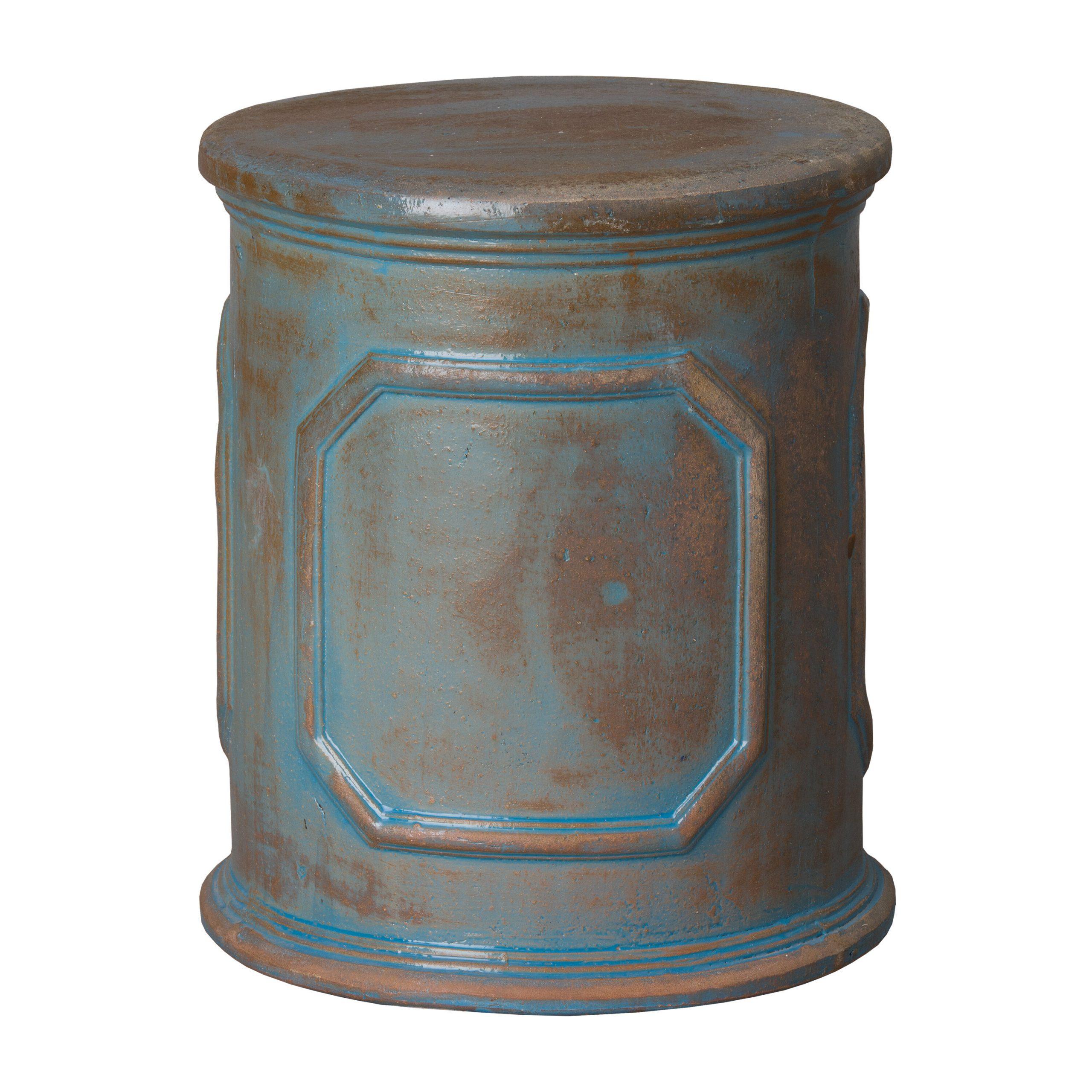Penwortham Ceramic Garden Stool Intended For Engelhardt Ceramic Garden Stools (View 10 of 25)