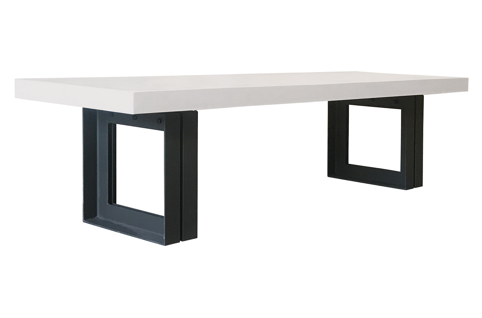 """Perpetual Steel Senza Table 87"""" – Ivory White With Regard To Pettit Steel Garden Benches (View 23 of 25)"""
