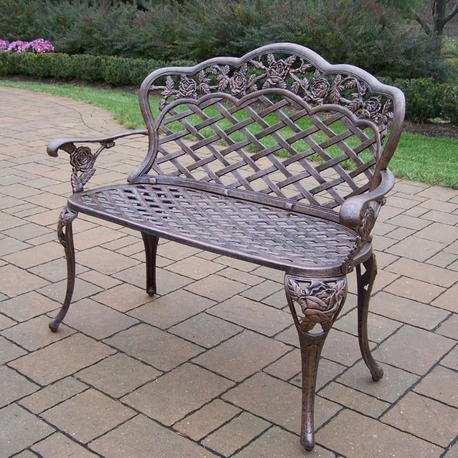 Pin On Benches Pertaining To Montezuma Cast Aluminum Garden Benches (View 13 of 25)