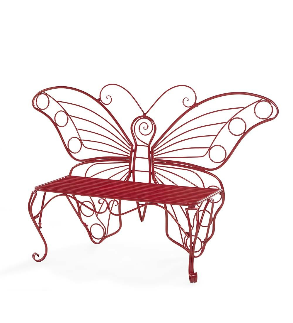 Pin On Butterflies For Caryn Colored Butterflies Metal Garden Benches (View 11 of 25)