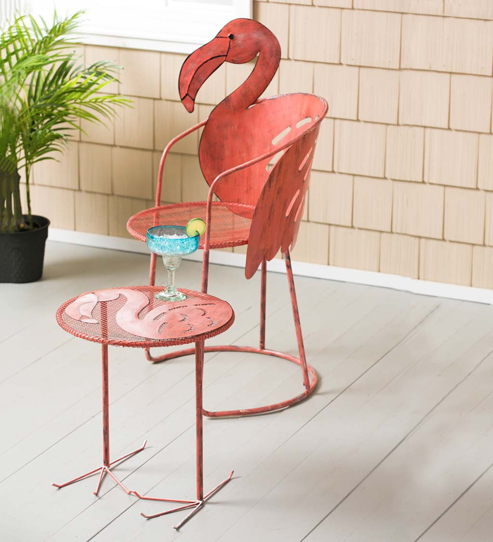 Pin On Garden Art, Statues & Sculptures Intended For Flamingo Metal Garden Benches (View 14 of 25)