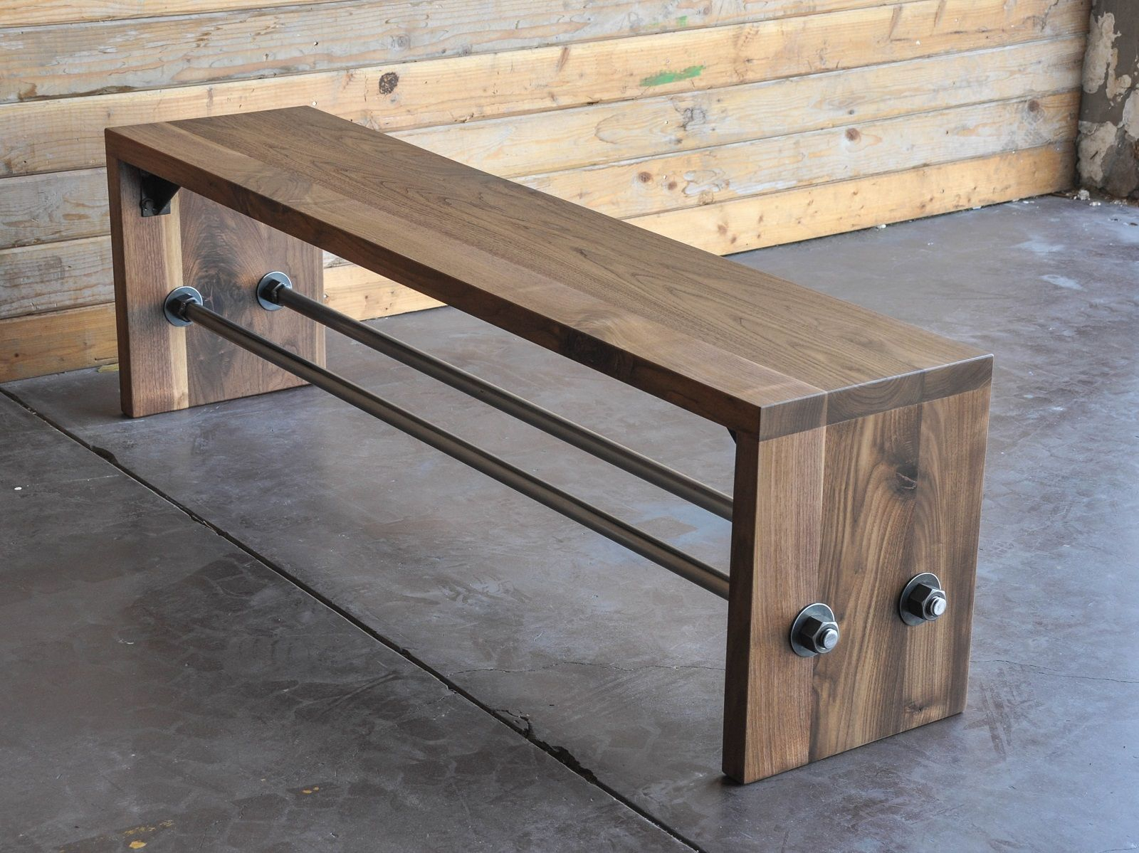 Pin On Idea & Learn Pertaining To Walnut Solid Wood Garden Benches (View 4 of 25)