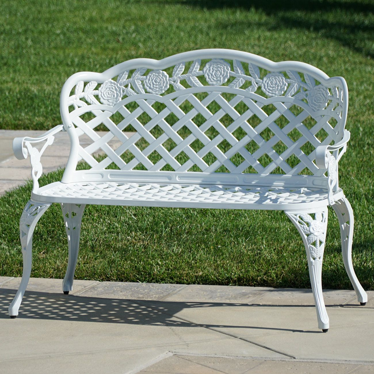 Pin On Seats And Benches Within Montezuma Cast Aluminum Garden Benches (View 5 of 25)