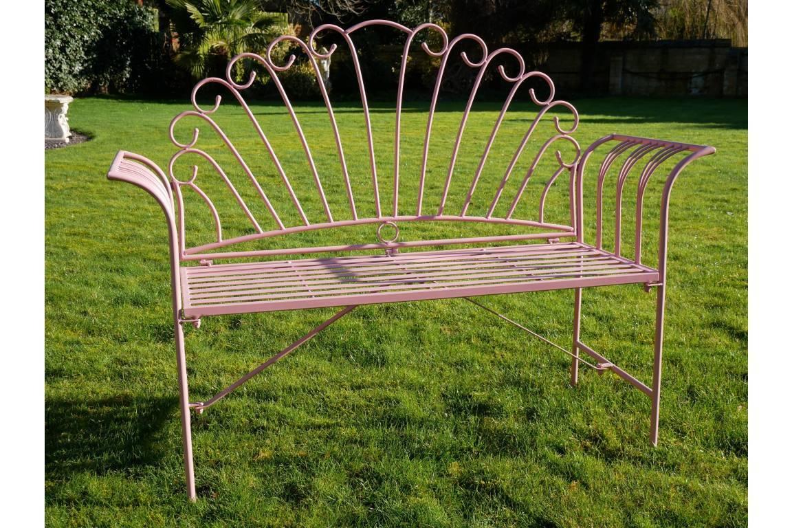 Pink Metal Flamingo Garden Bench For Flamingo Metal Garden Benches (View 2 of 25)