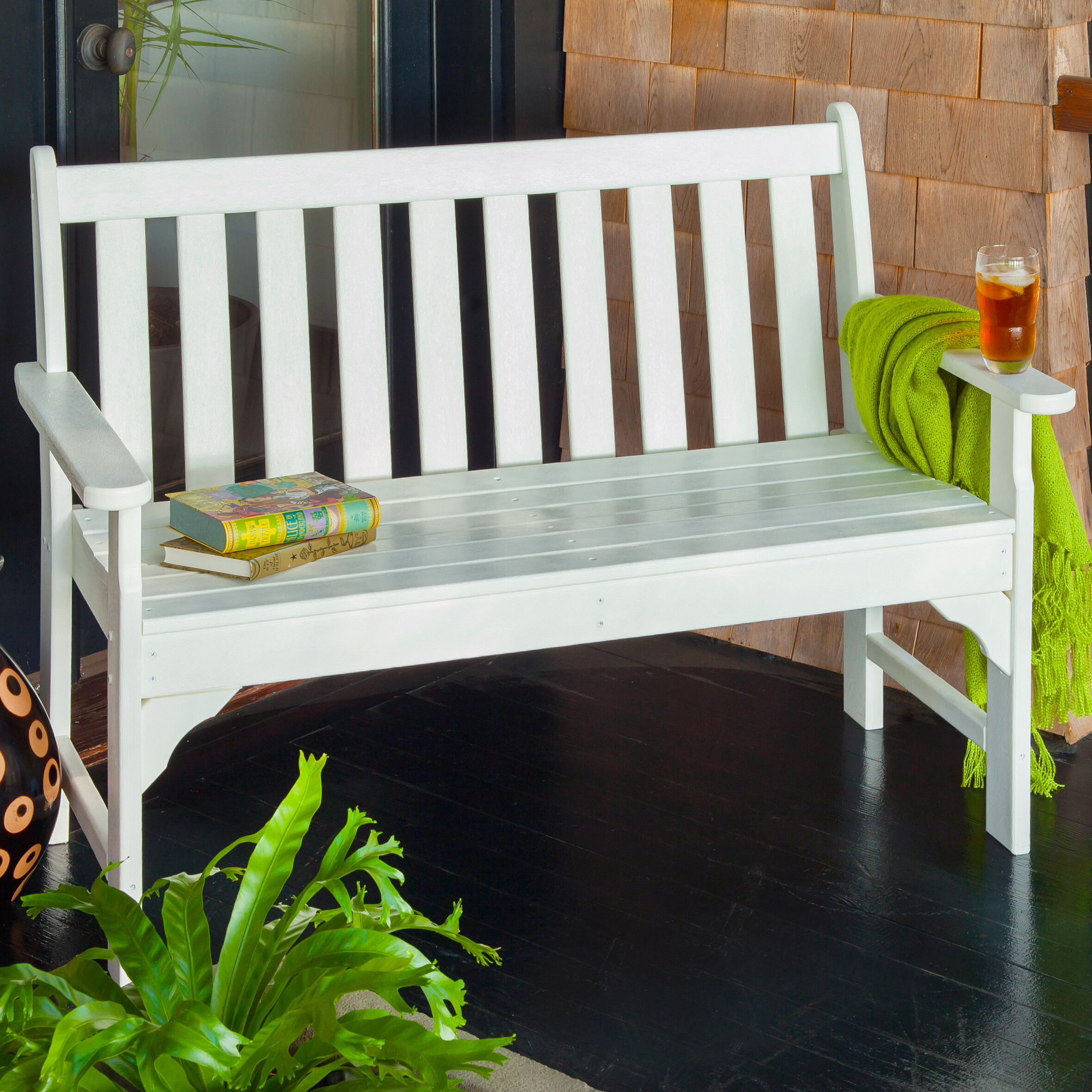 Polywood® Vineyard Plastic Garden Bench Intended For Manchester Solid Wood Garden Benches (View 9 of 25)