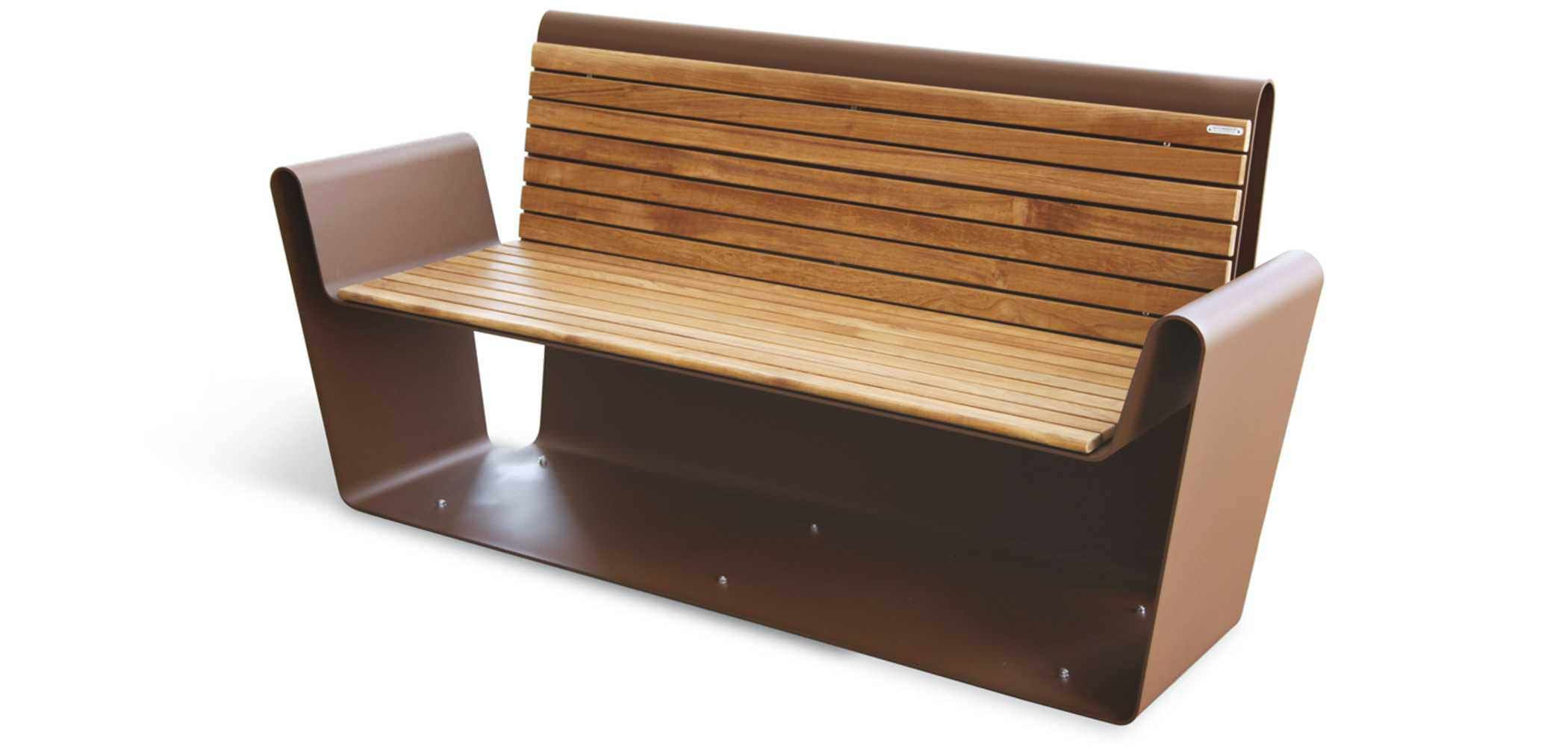 Public Bench / Contemporary / Stainless Steel / Modular Throughout Krystal Ergonomic Metal Garden Benches (View 16 of 25)