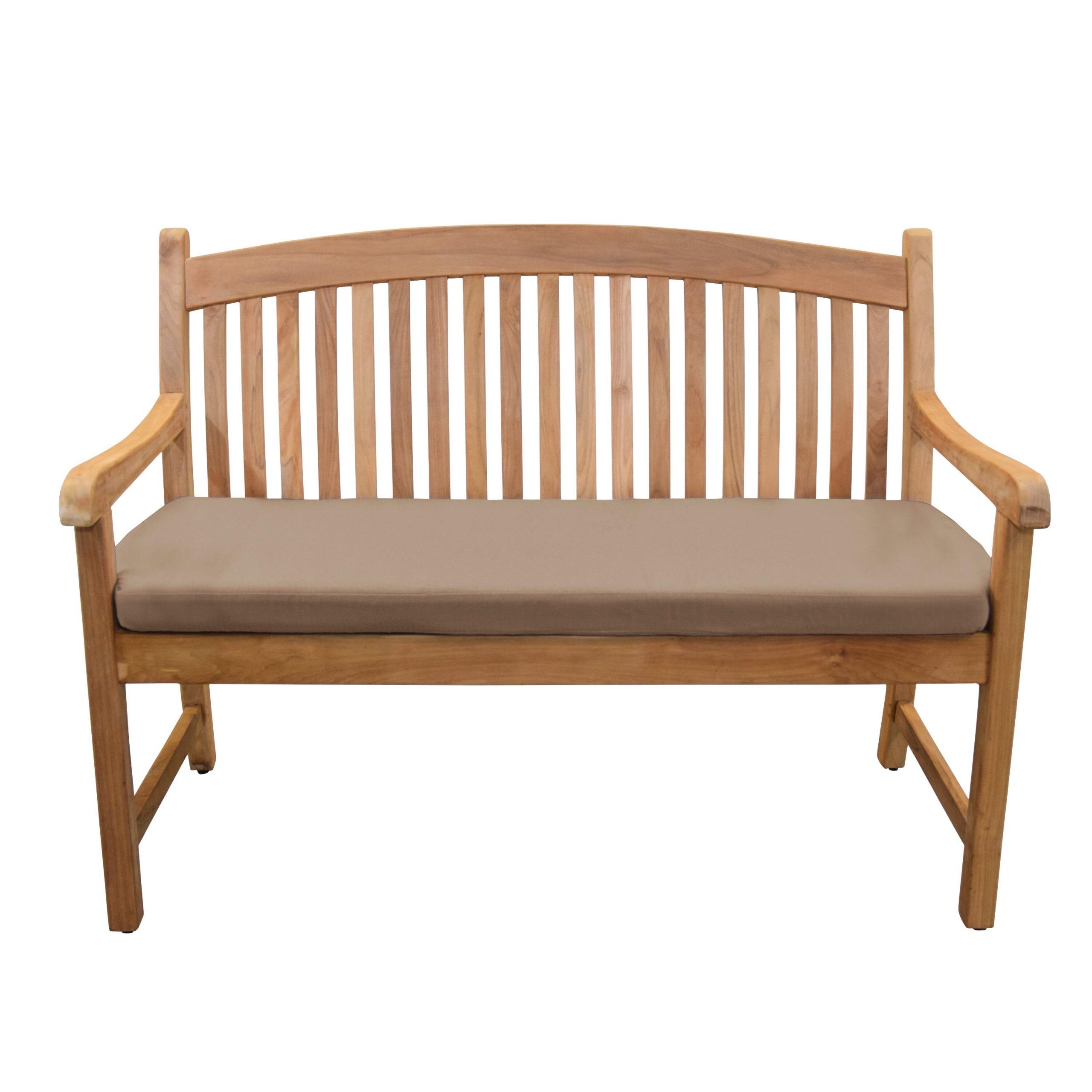 Pulver Teak Garden Bench Regarding Lucille Timberland Wooden Garden Benches (View 4 of 25)
