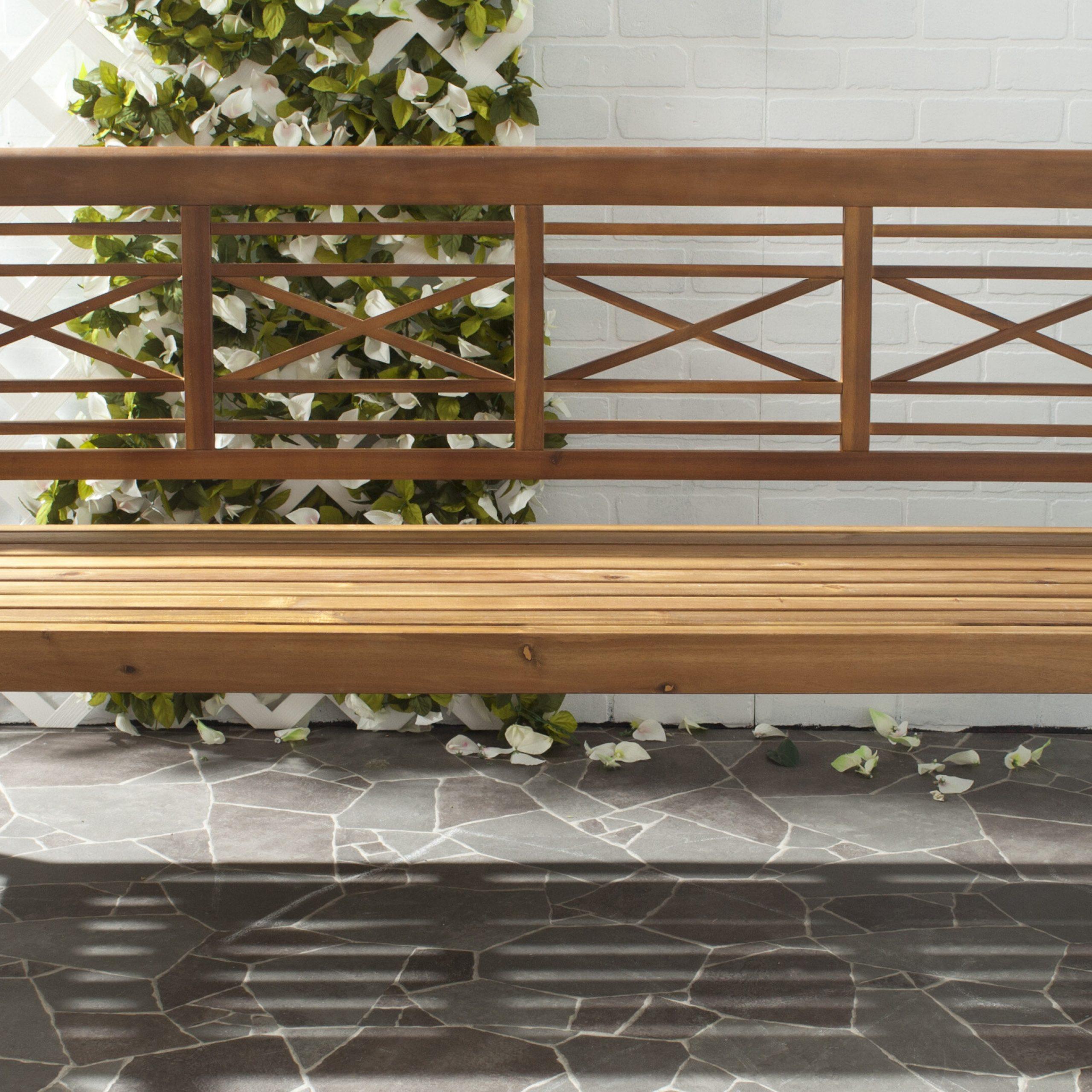 Putnam Wooden Garden Bench With Leora Wooden Garden Benches (View 10 of 25)