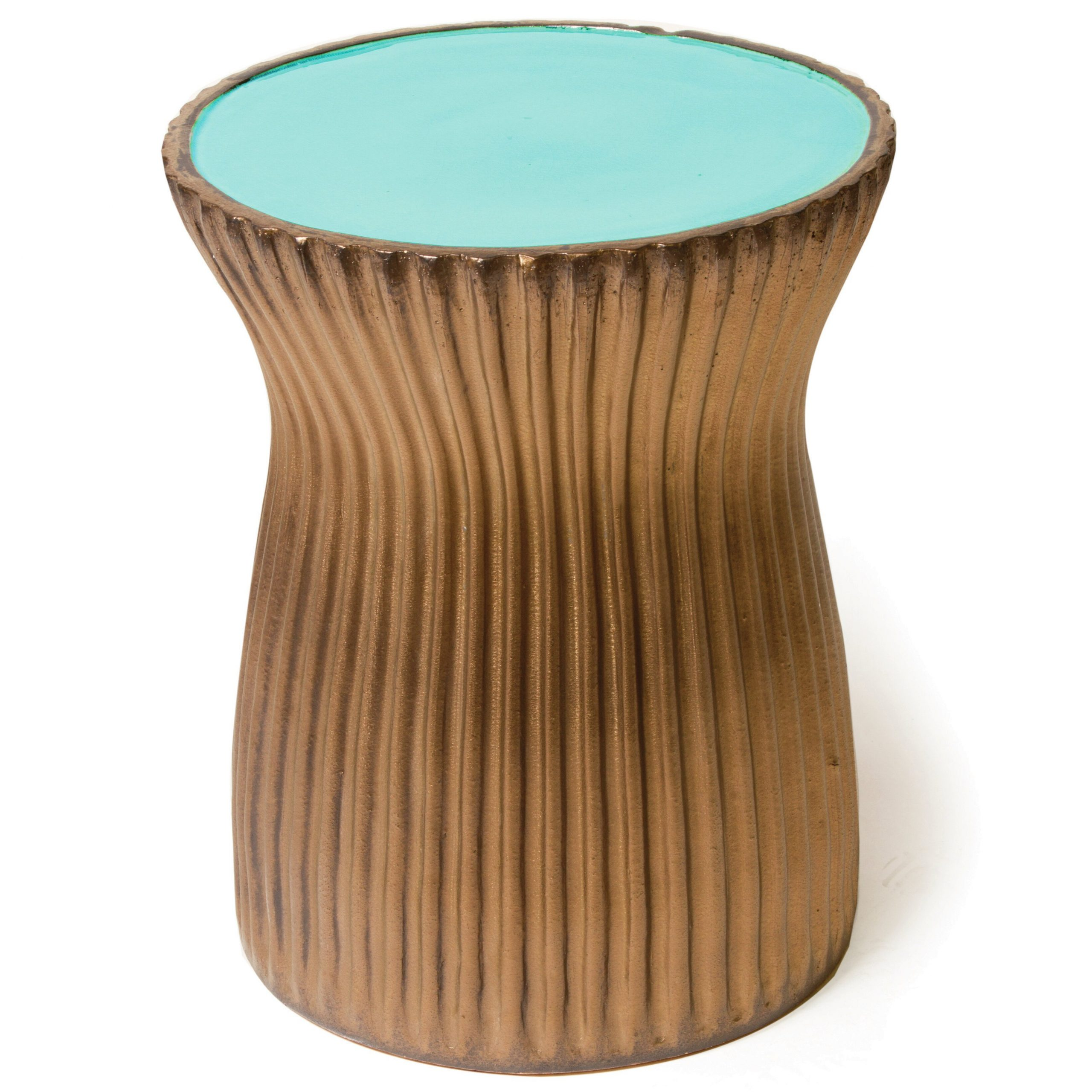Ridged Ceramic Accent Stool With Arista Ceramic Garden Stools (View 6 of 25)