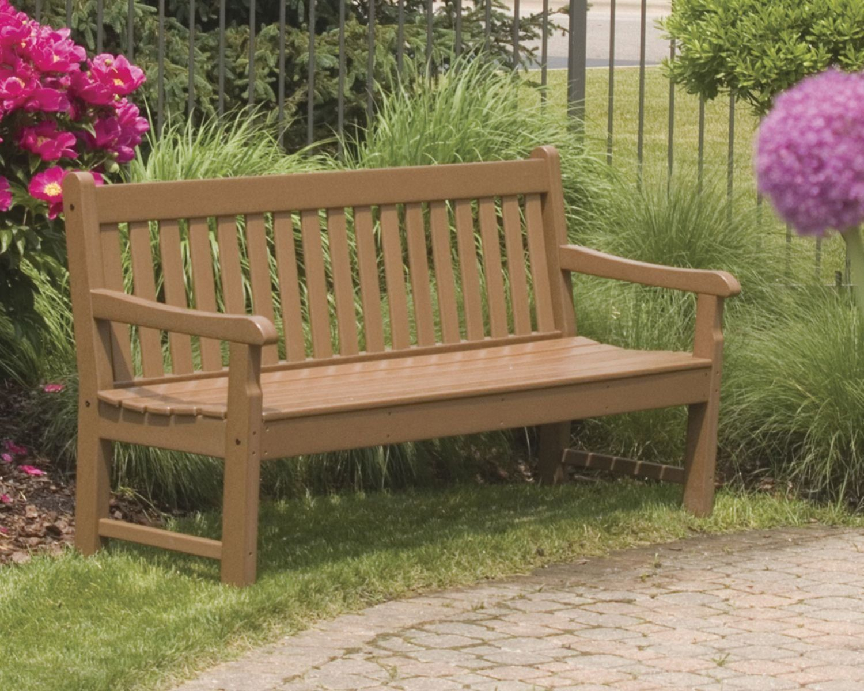 Rockford Plastic Garden Bench In 2020 | Plastic Garden Bench Inside Leora Wooden Garden Benches (View 15 of 25)