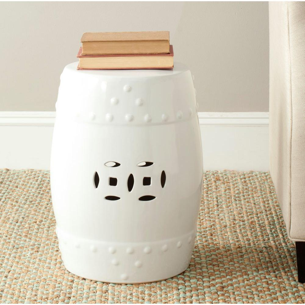Safavieh Modern Ming White Ceramic Garden Stool Acs4516A – The Home Depot With Ceramic Garden Stools (View 9 of 25)