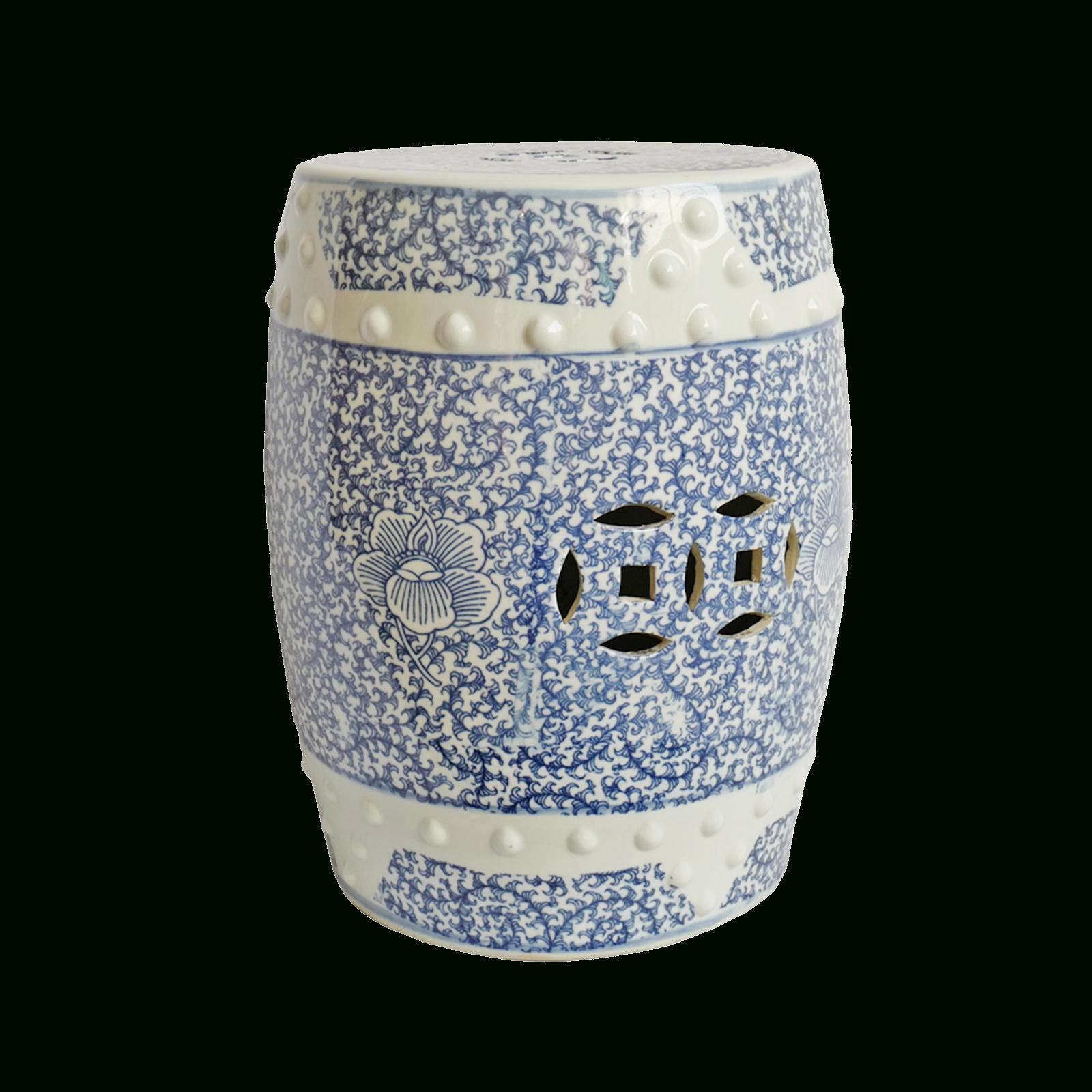 Safavieh Paradise Swallows White Ceramic Decorative Garden In Holbrook Ceramic Garden Stools (View 17 of 25)