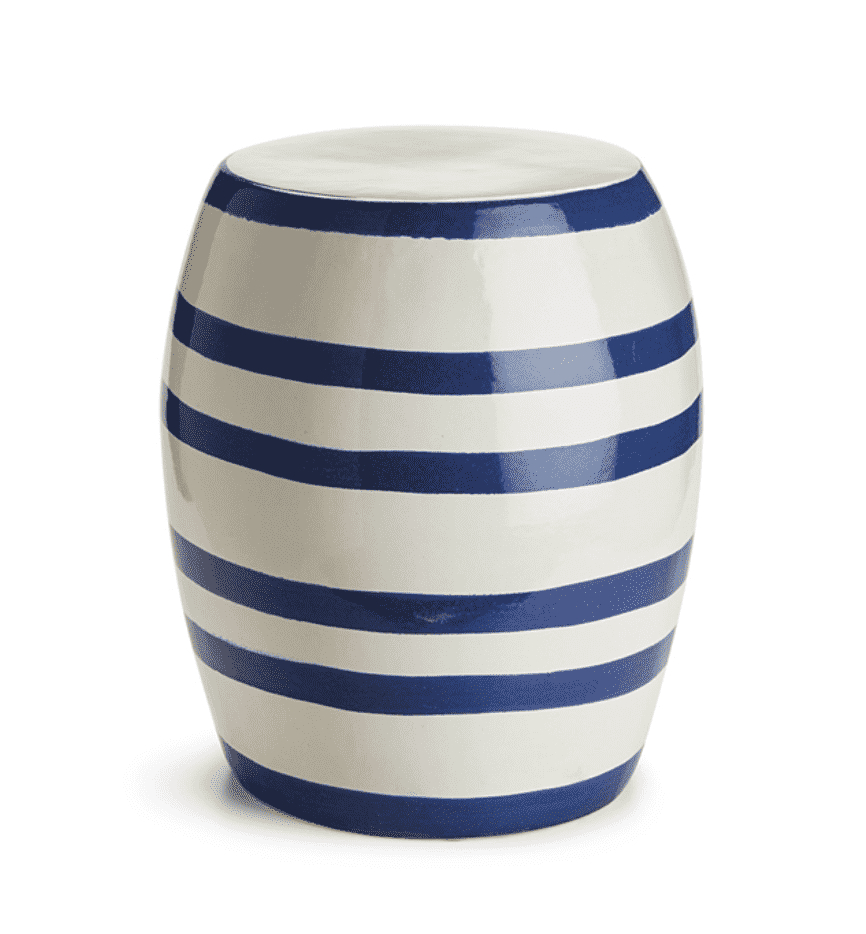 Seaside Striped Garden Stool In 2020 | Garden Stool, Blue With Bracey Garden Stools (View 2 of 25)