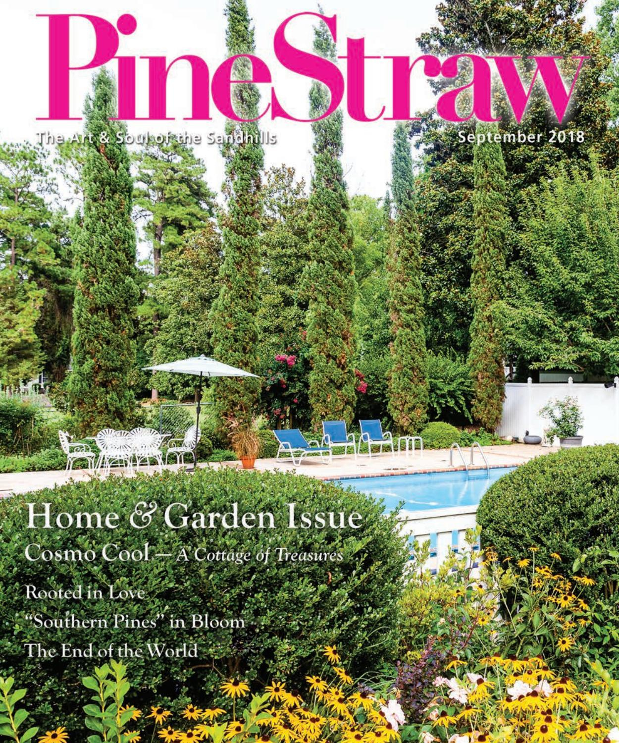 September Pinestraw 2018Pinestraw Magazine – Issuu Throughout Bonville Ceramic Garden Stools (View 22 of 25)