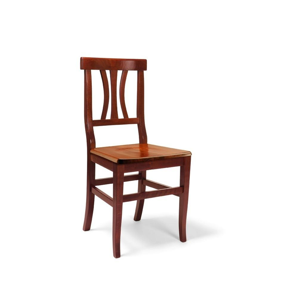 Set 2 Laura Kitchen Chairs In Solid Wood With Walnut Wood Seat (Wot) With Walnut Solid Wood Garden Benches (View 16 of 25)