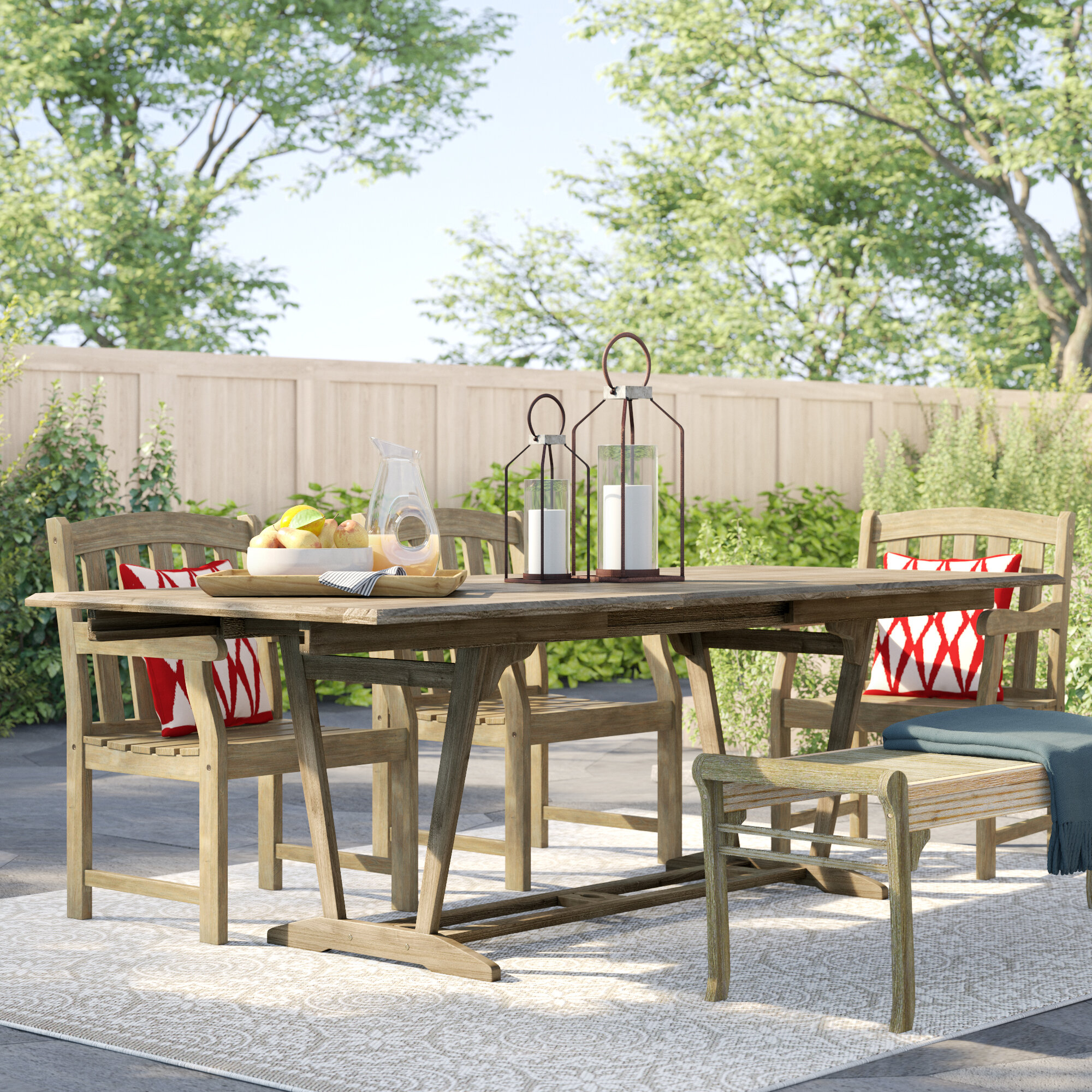 Shelbie Extendable Wooden Dining Table Pertaining To Shelbie Wooden Garden Benches (View 15 of 25)