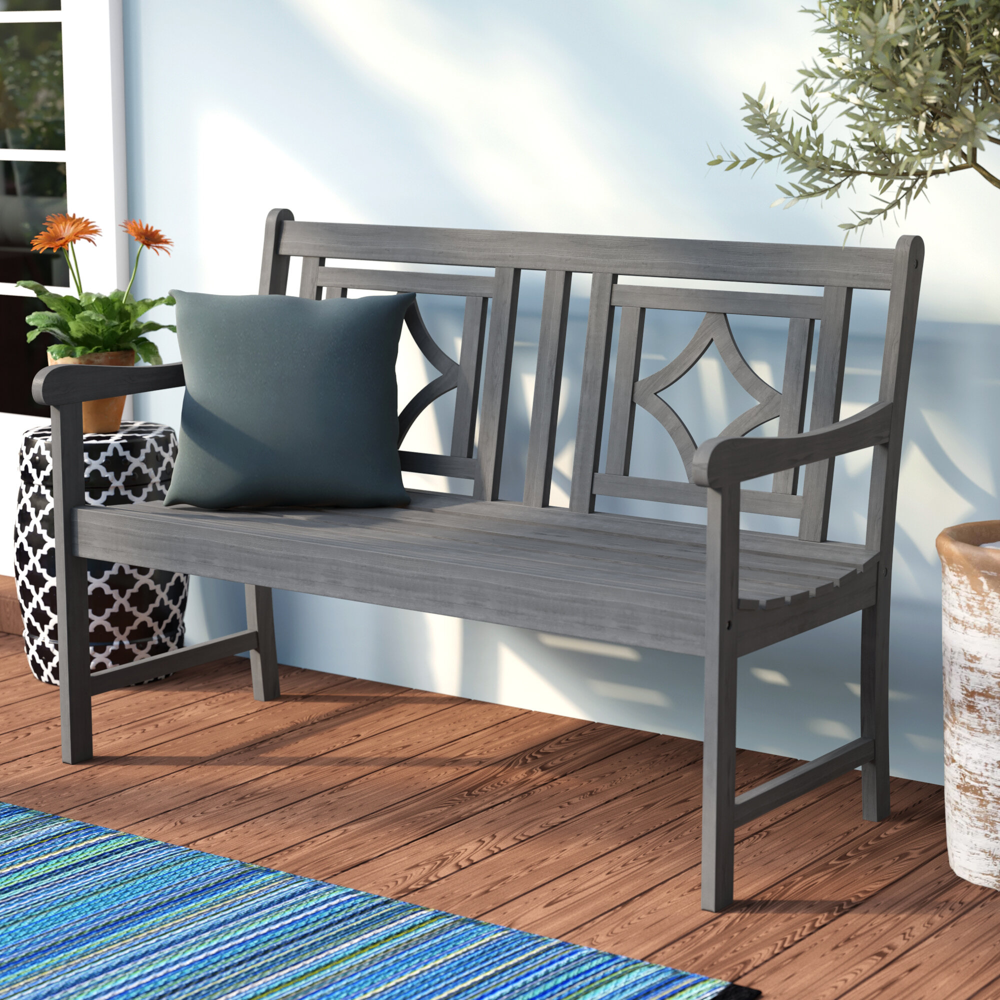 Featured Image of Shelbie Wooden Garden Benches