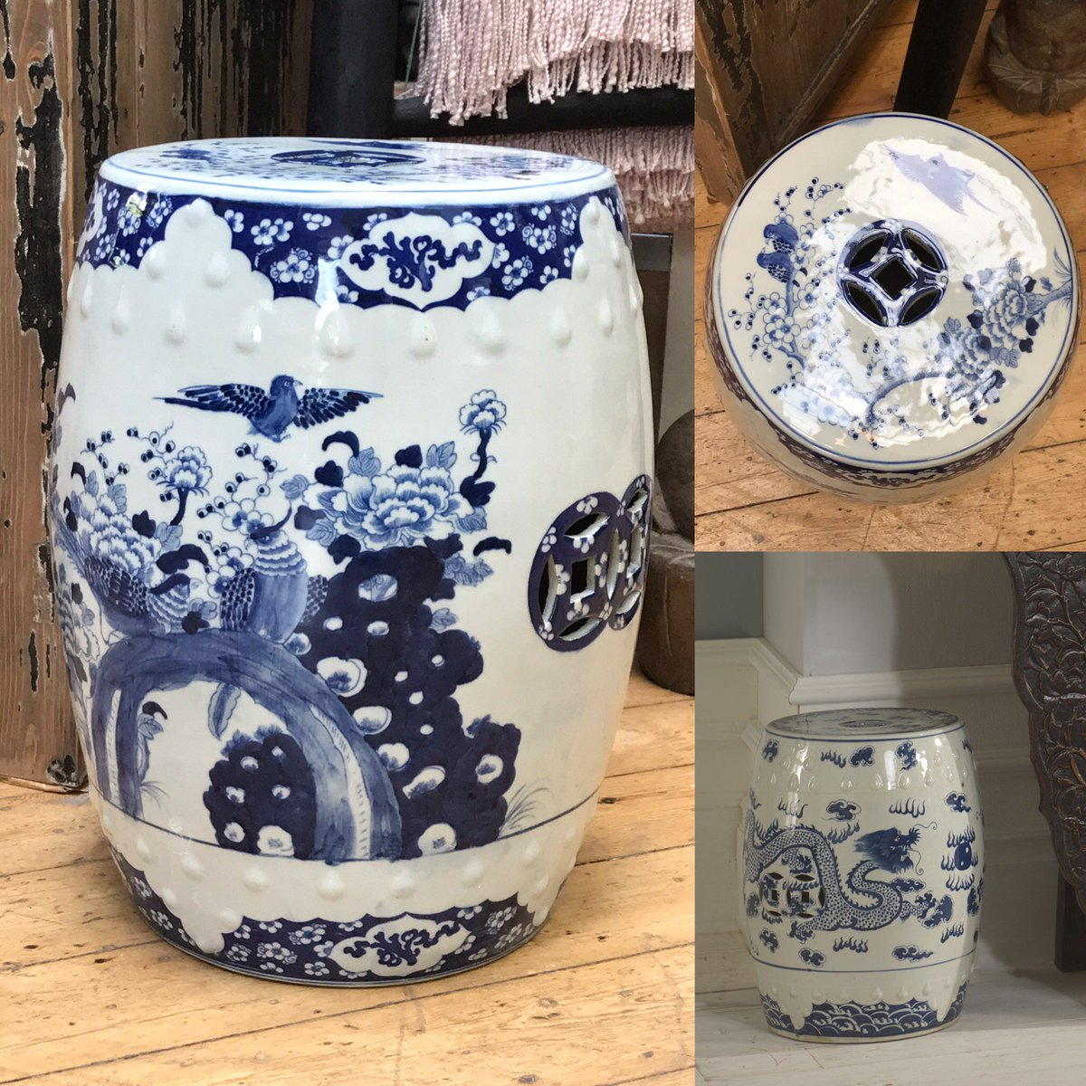 "Shimu Furniture On Twitter: ""Our Popular Blue And White Regarding Dragon Garden Stools (View 18 of 26)"