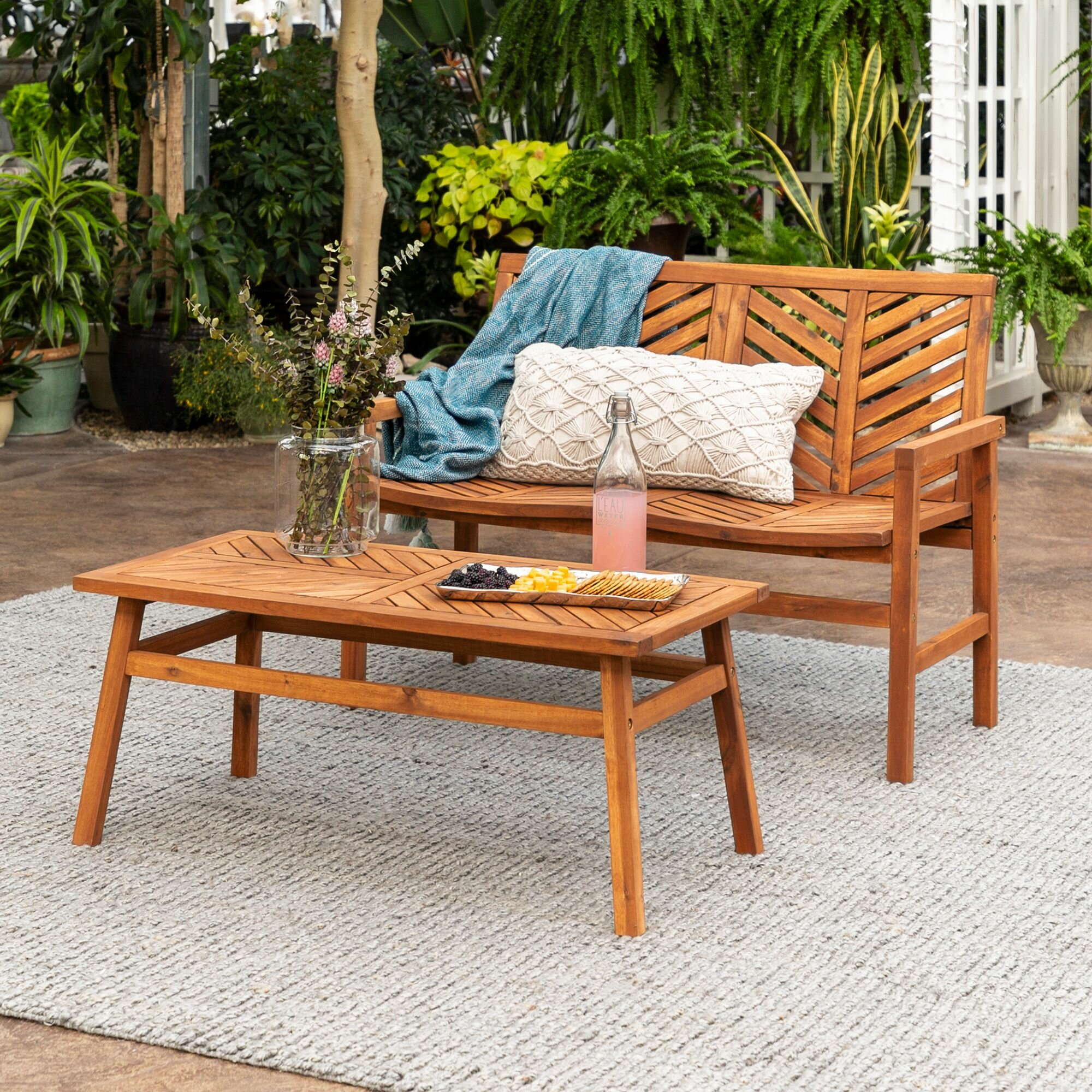 Skoog 2 Piece Seating Group Intended For Skoog Chevron Wooden Garden Benches (View 15 of 25)